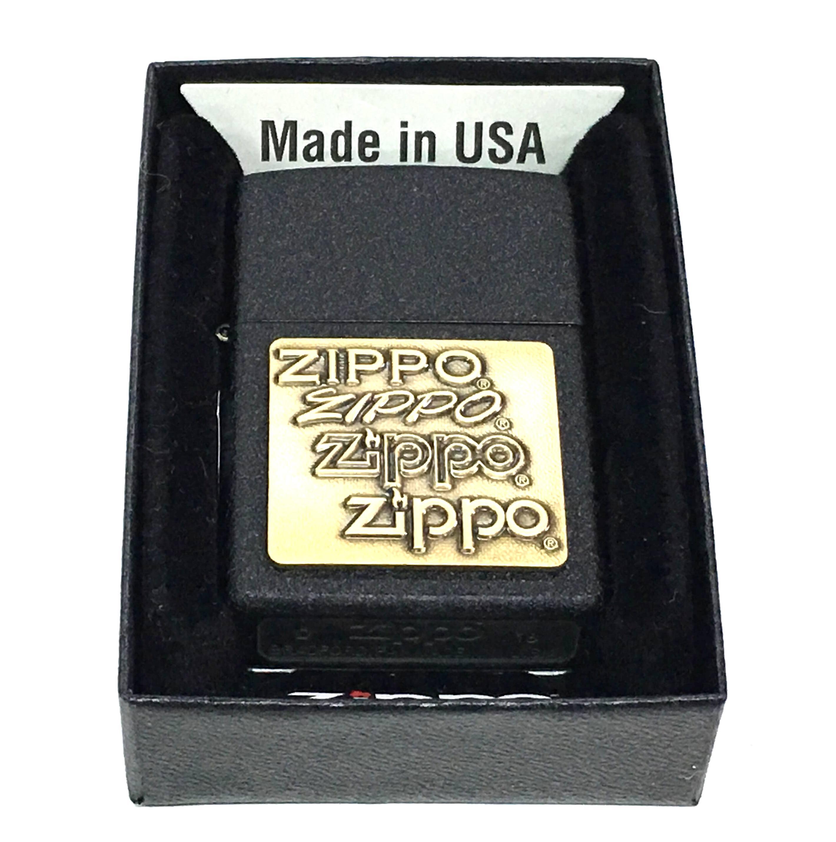 Zippo den san dap chu zippo noi vang Z654
