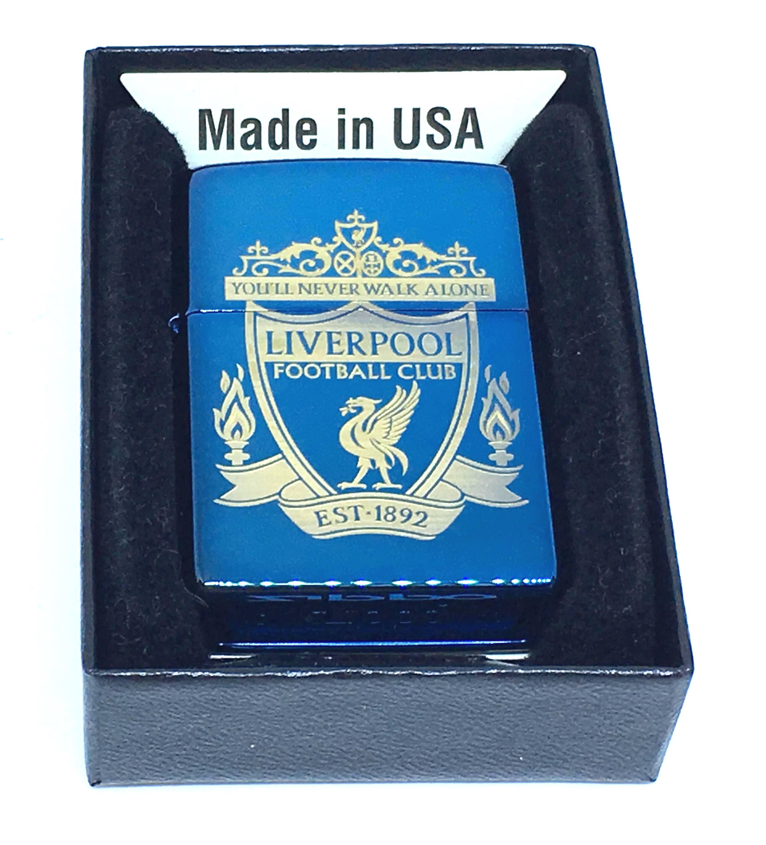 Zippo xanh saphia khac laze Liverpool Z685