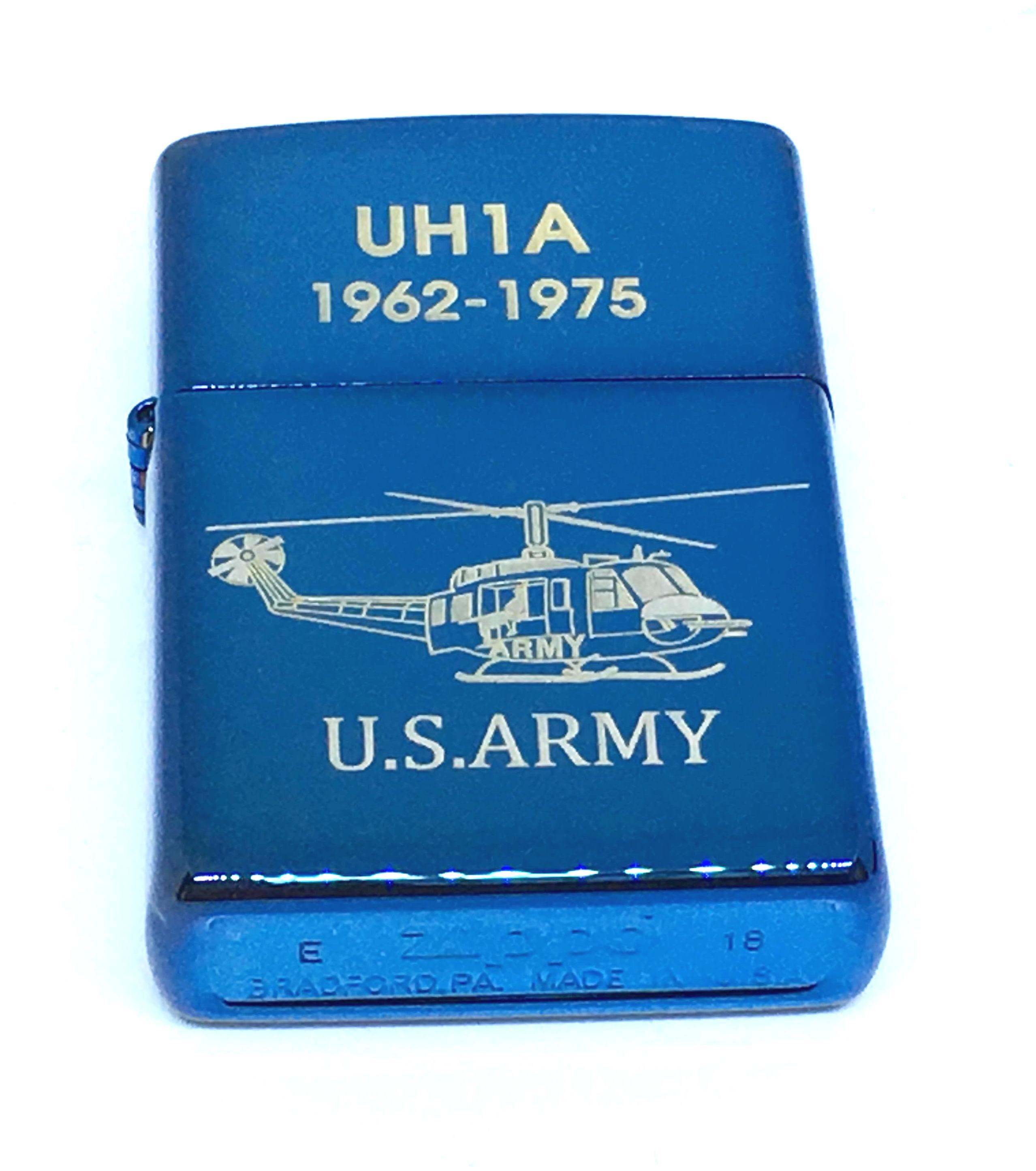 Zippo xanh saphia khac laze U.S.ARMY Z687 2