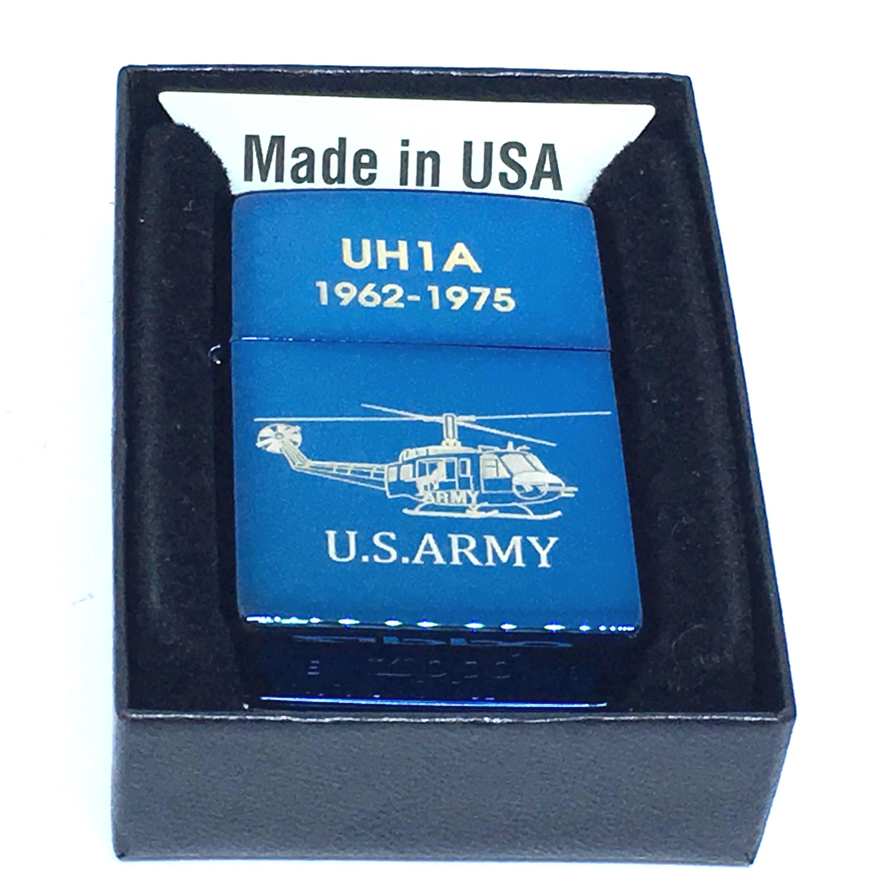 Zippo xanh saphia khac laze U.S.ARMY Z687