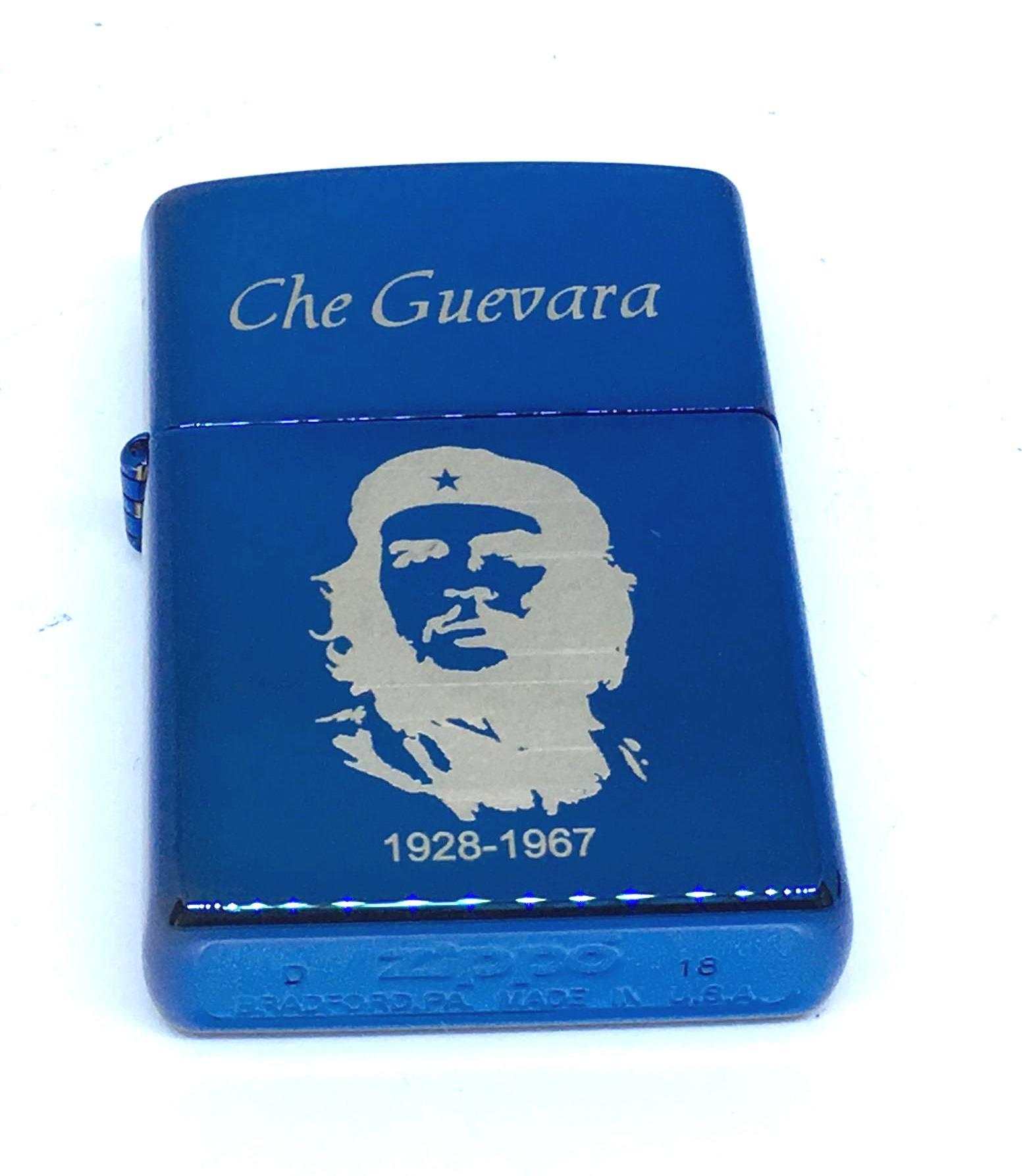 Zippo xanh saphia khac laze Che Guevara Z689 2