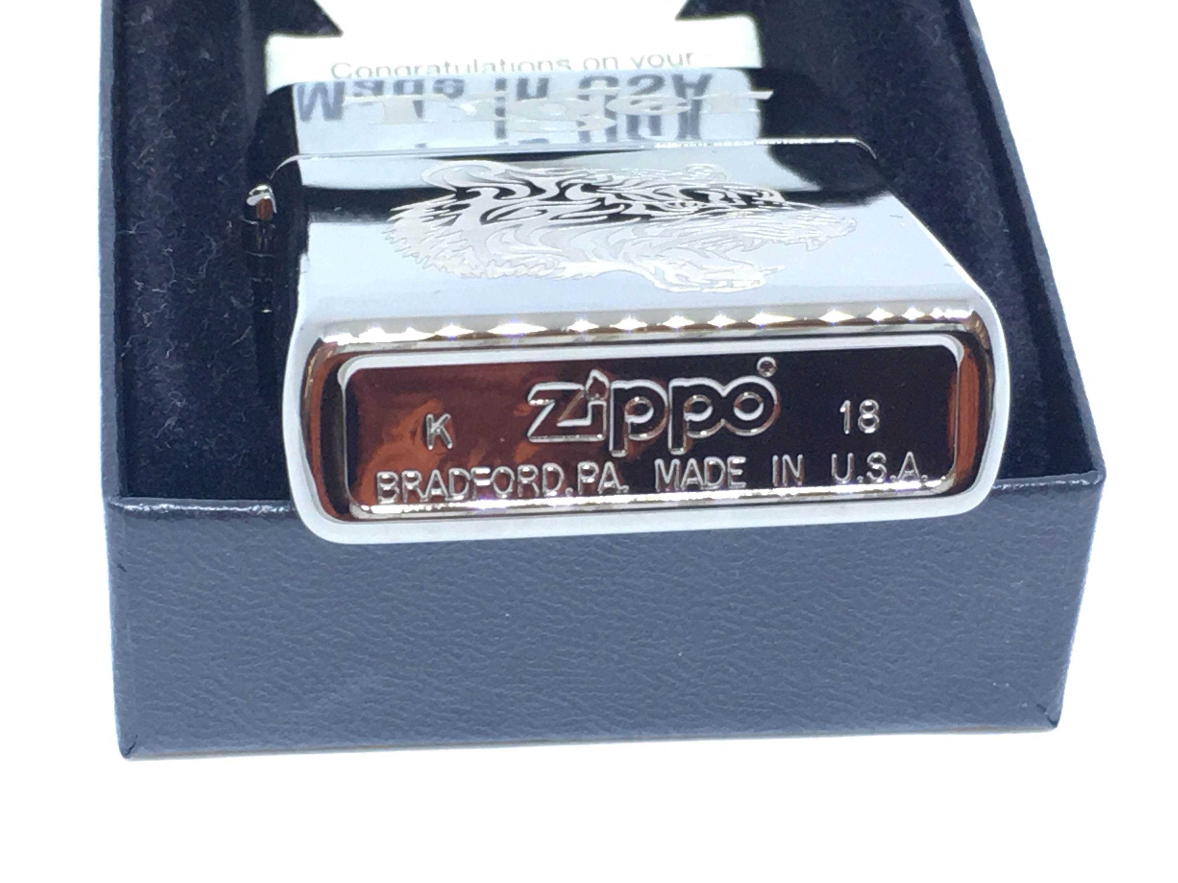 Zippo den bong khac laze hinh con ho Z698 4