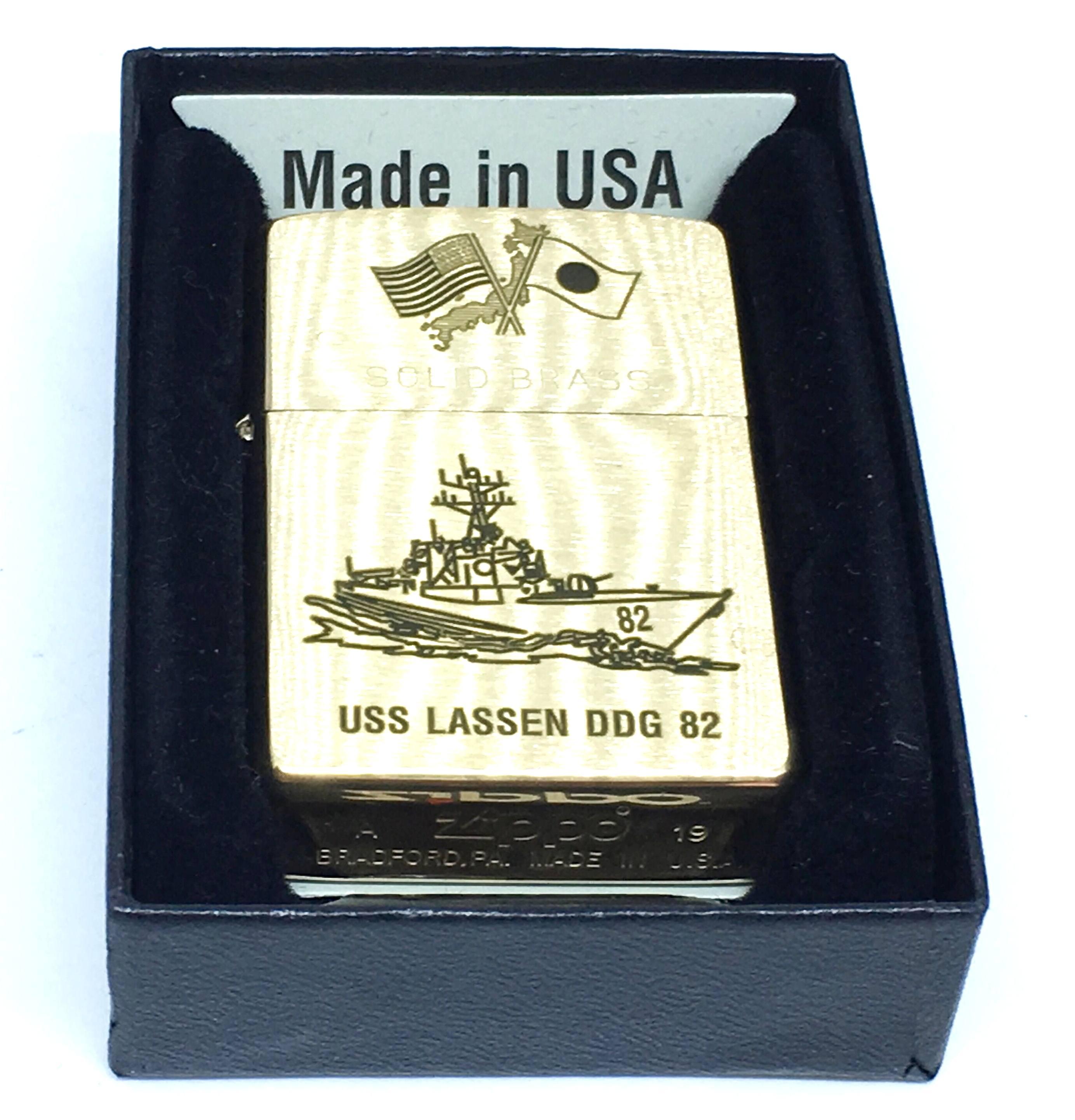 Zippo nham vang khac laze USS LASSEN DDG 82  Z704