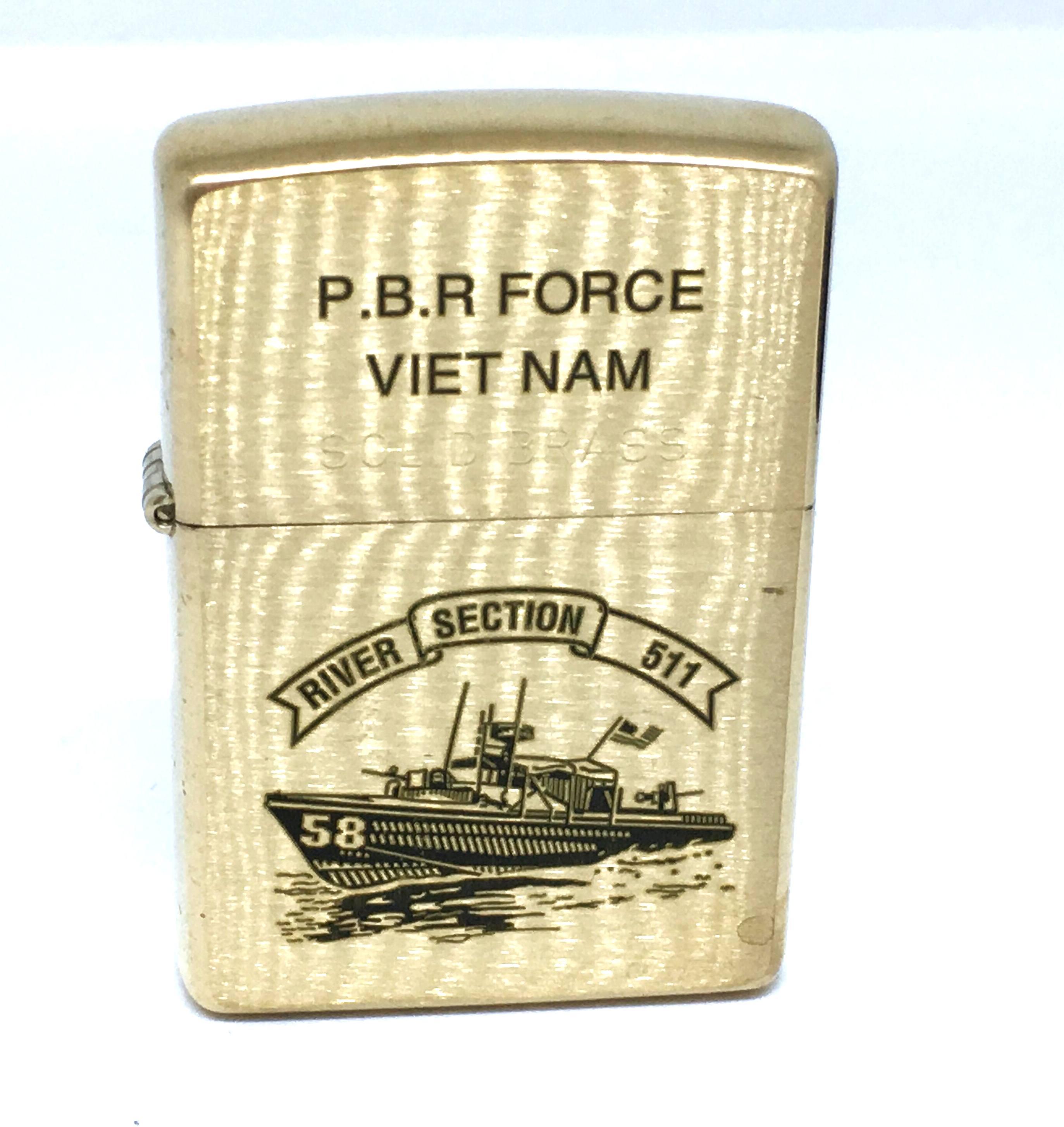 Zippo vang nham khac laze P.B.R FORCE VIET NAM  NTZ705 2