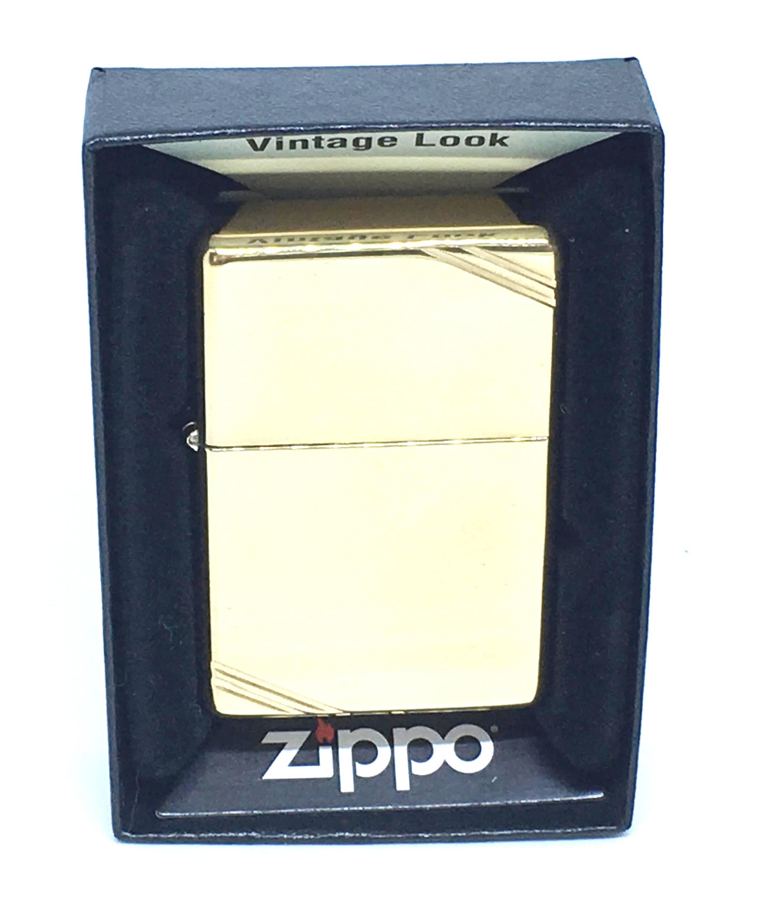 Zippo vang bong tron chat goc Z714 1