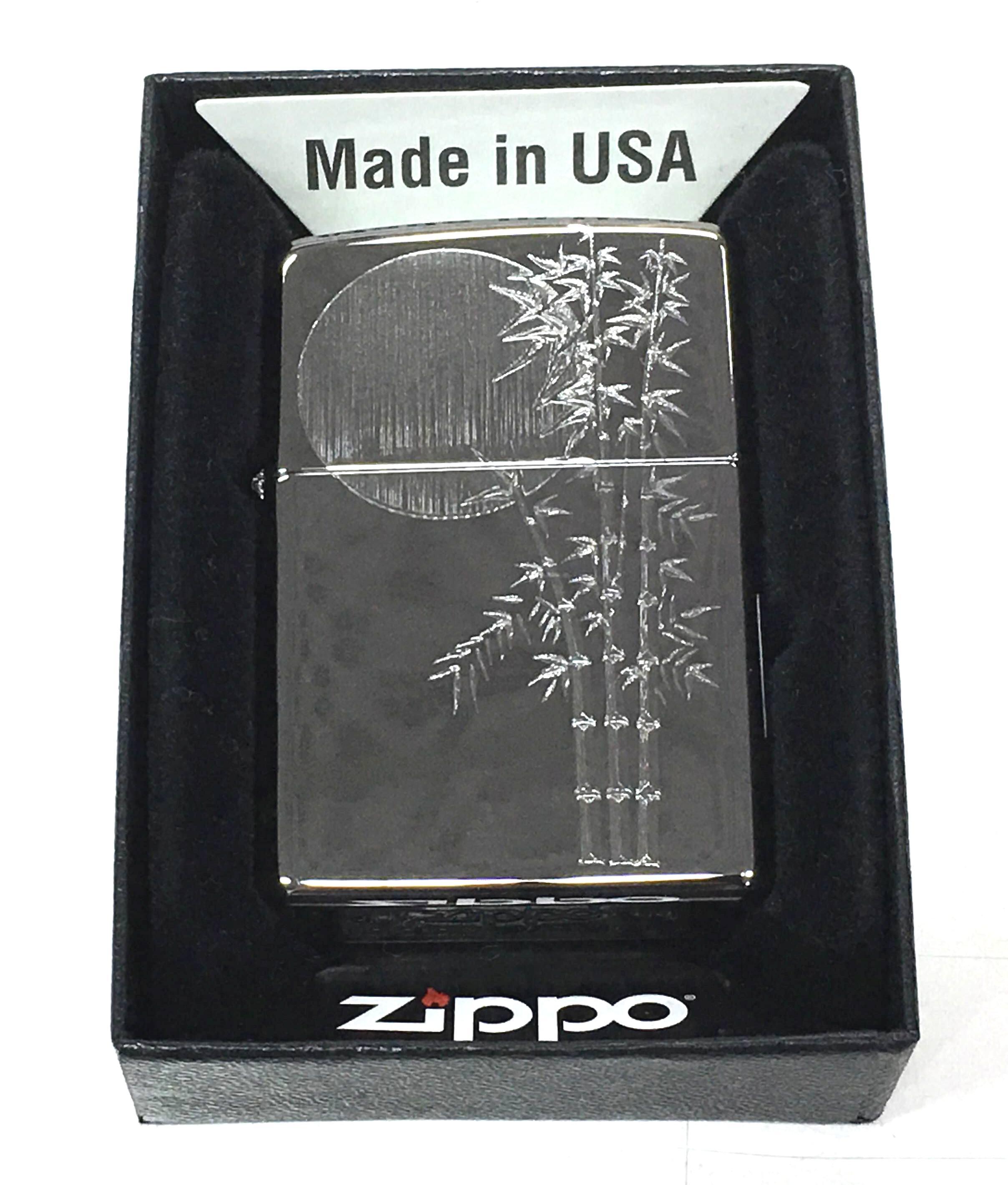 Zippo bong trang khac sieu sau 1 mat cay truc va anh trang Z724