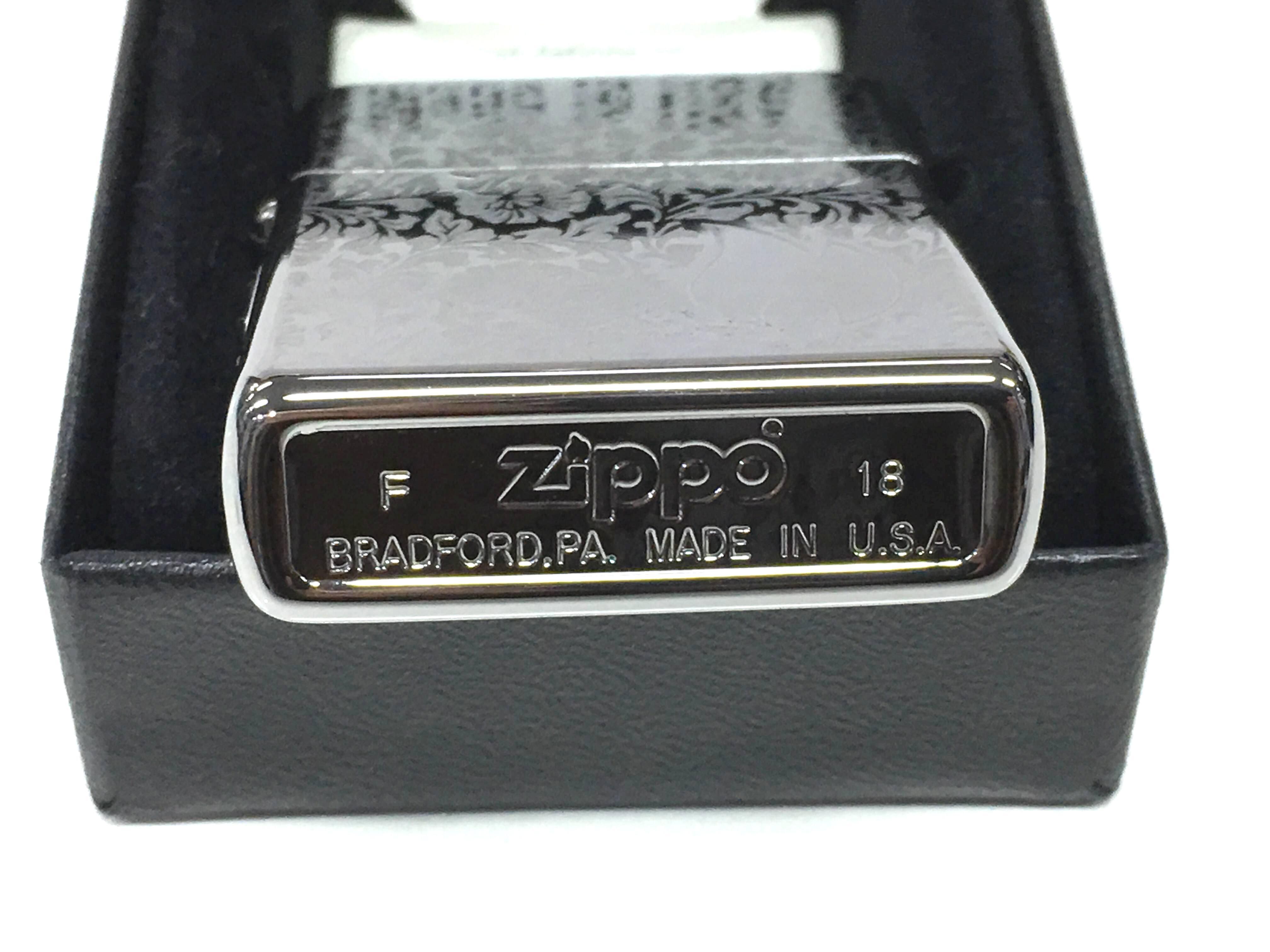Zippo bong trang cham sau hoa van ngon lua Z728 3