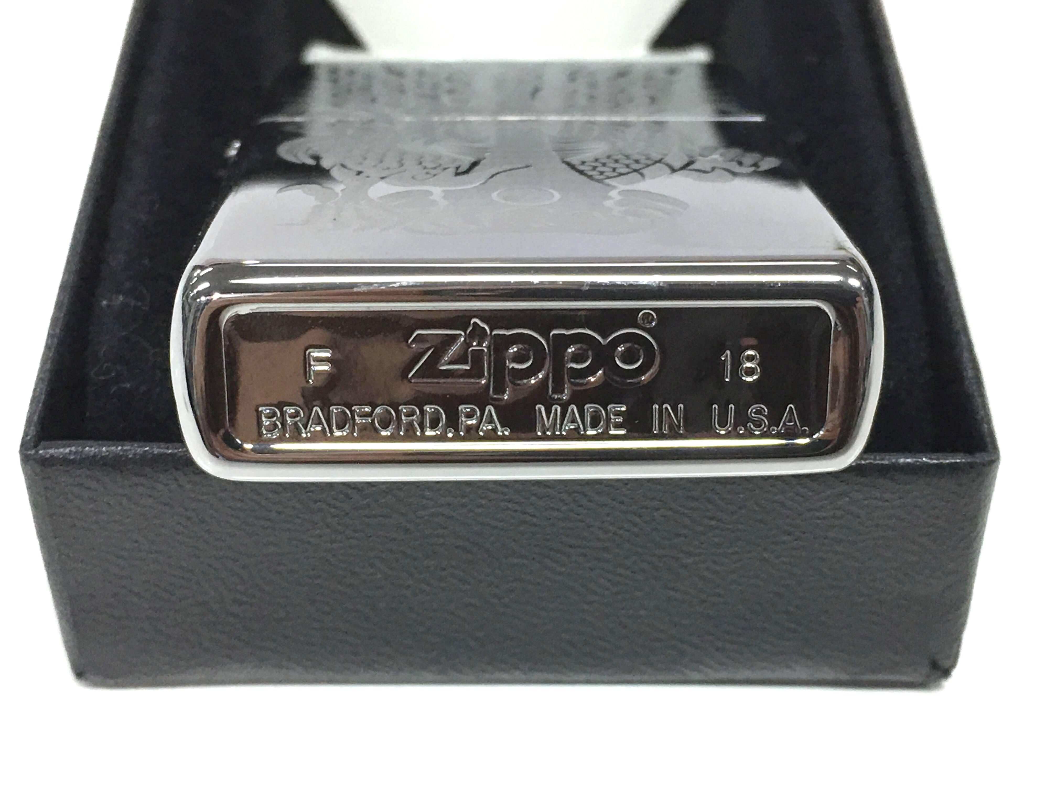 Zippo bong trang cham sau hinh con rong Z730 3