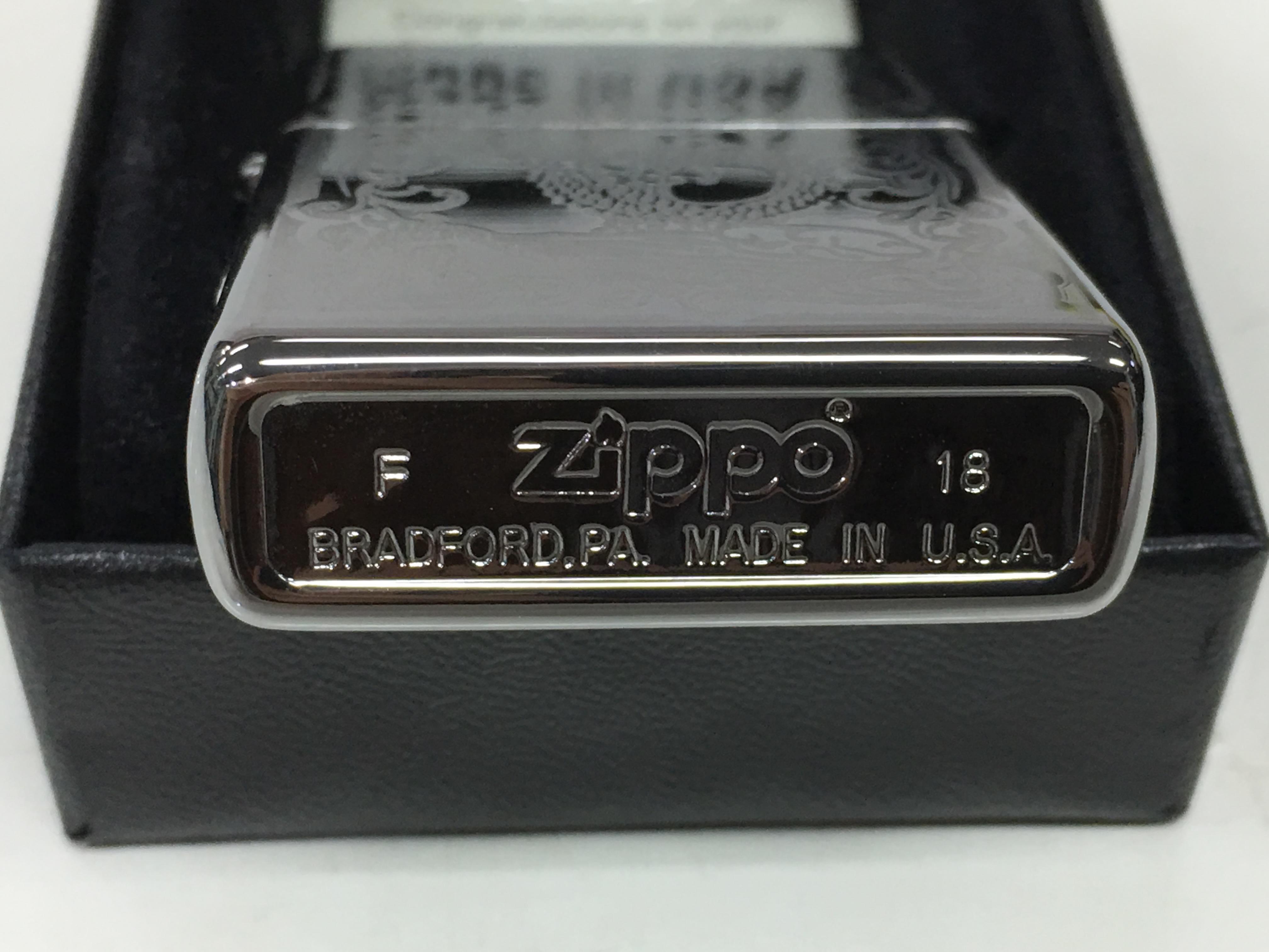 Zippo bong trang cham sau hinh con rong Z731 3