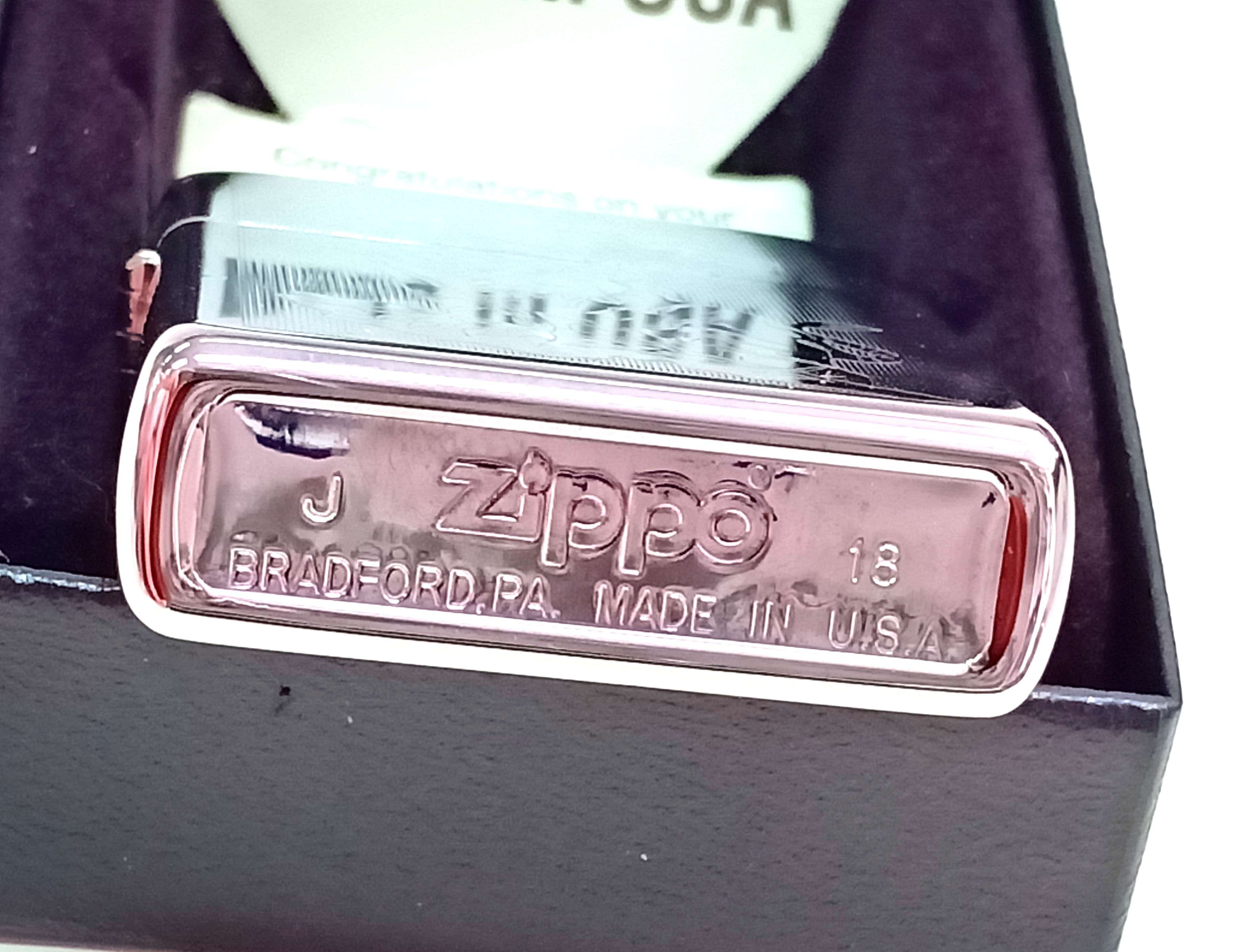 Zippo bong trang khac 2 mat hinh con ho Z737 3