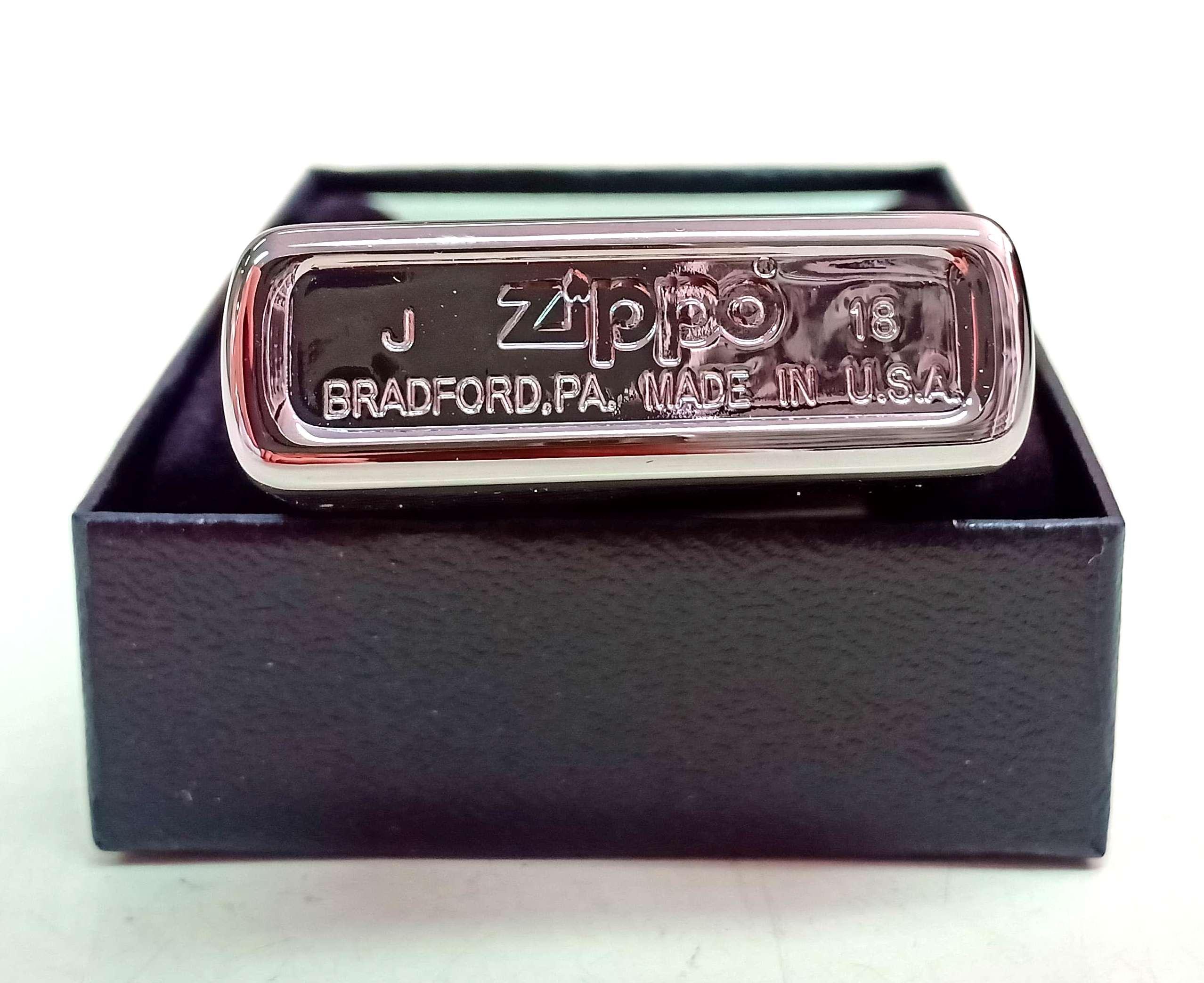 Zippo bong trang khac 2 mat hinh con rong Z739 3