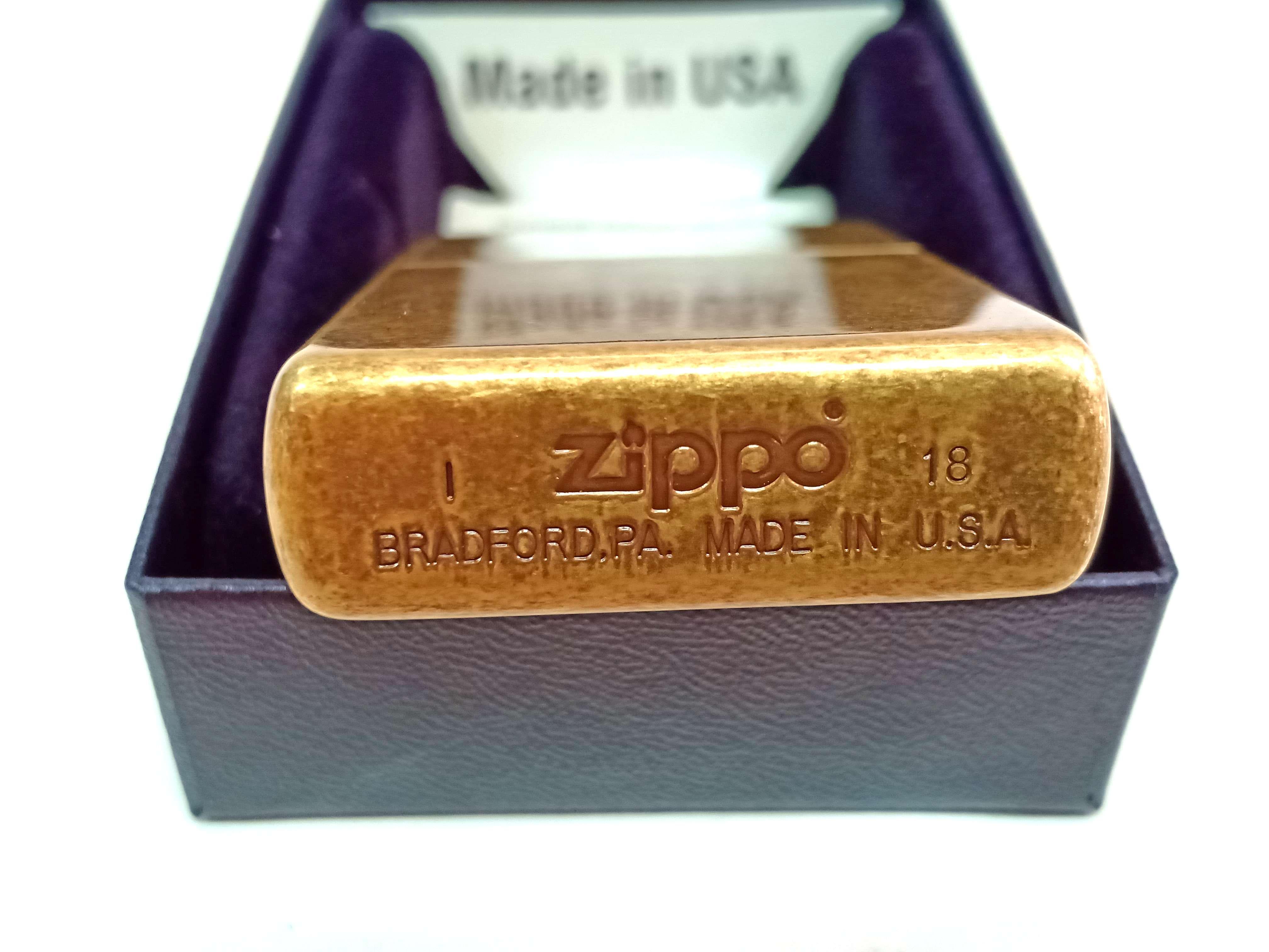 Zippo dong thau co Z748 3