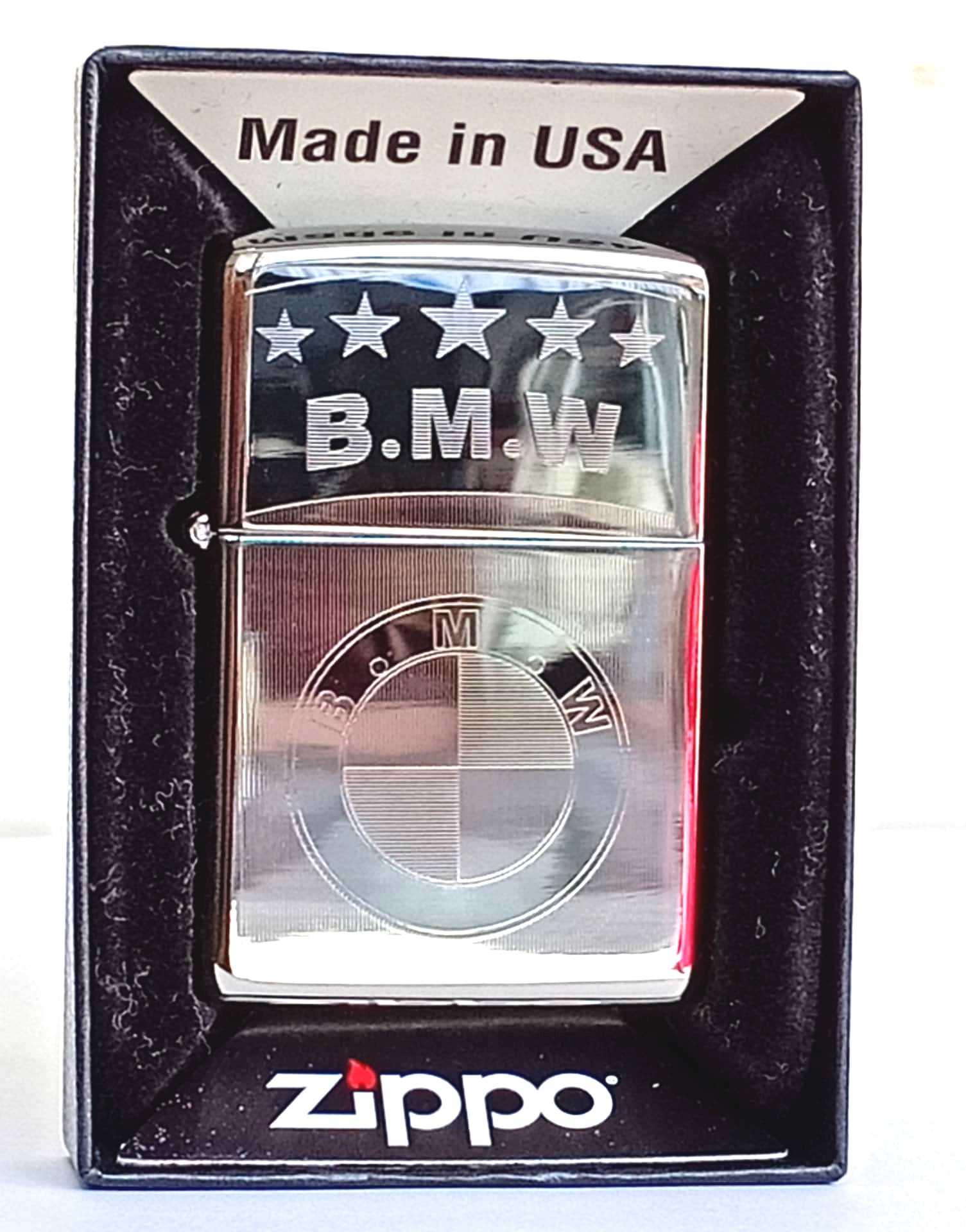 Zippo bong trang khac 2 mat B.M.W Z791