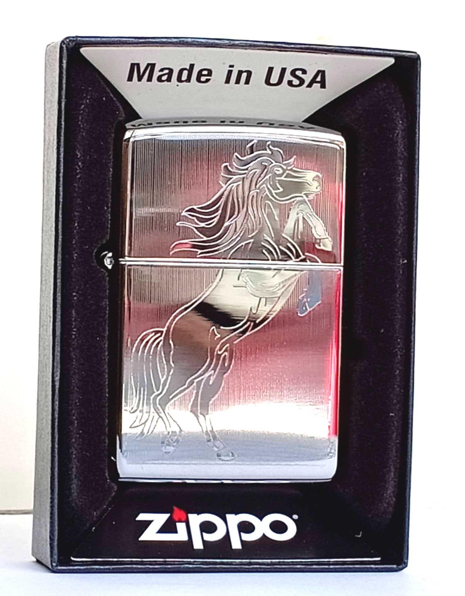 Zippo bong trang khac 1 mat hinh ngua Z798
