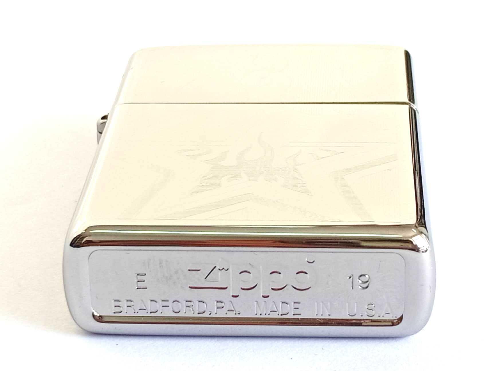 Zippo bong trang khac 1 mat hinh ngoi sao Z801 3