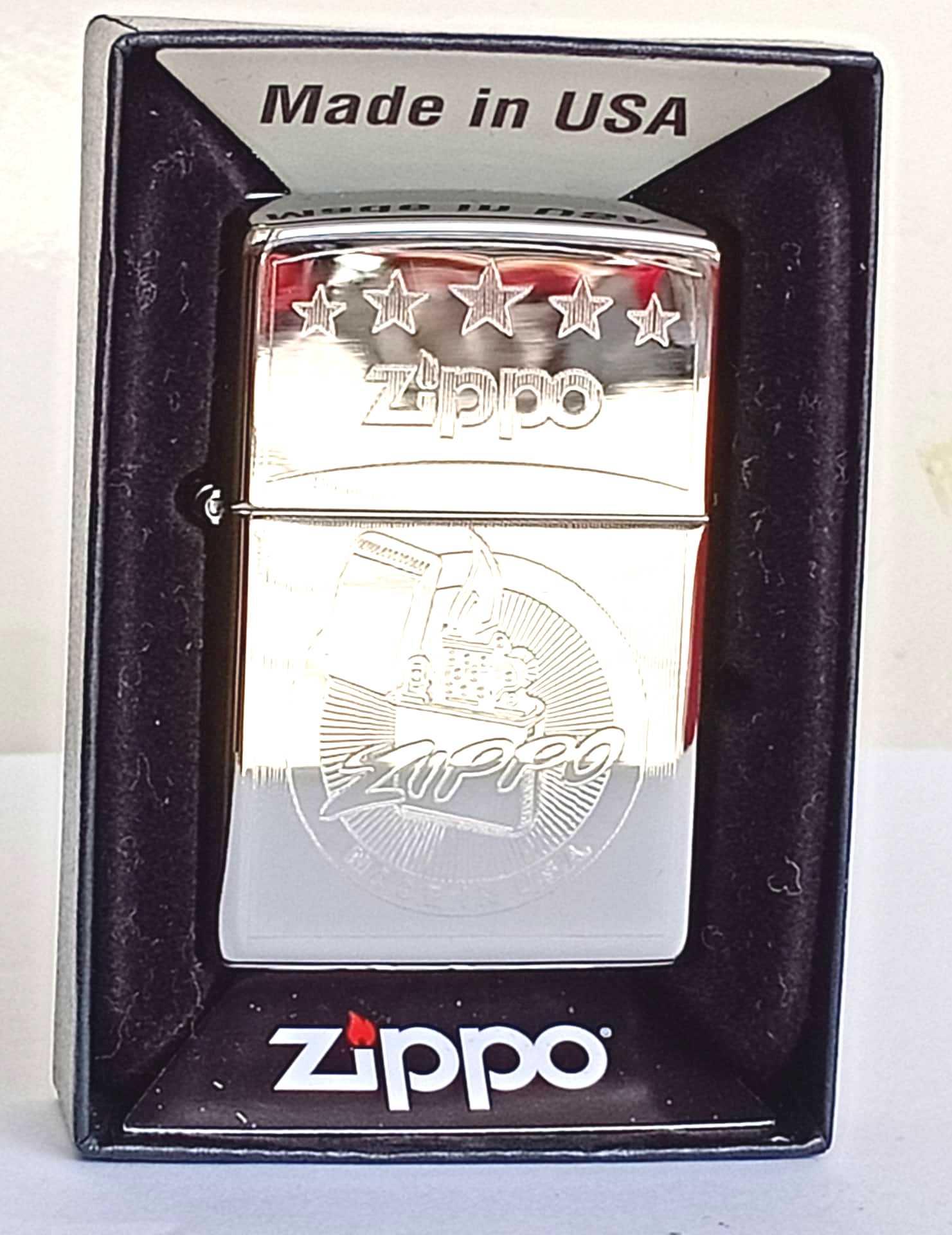Zippo bong trang khac 1 mat Z803