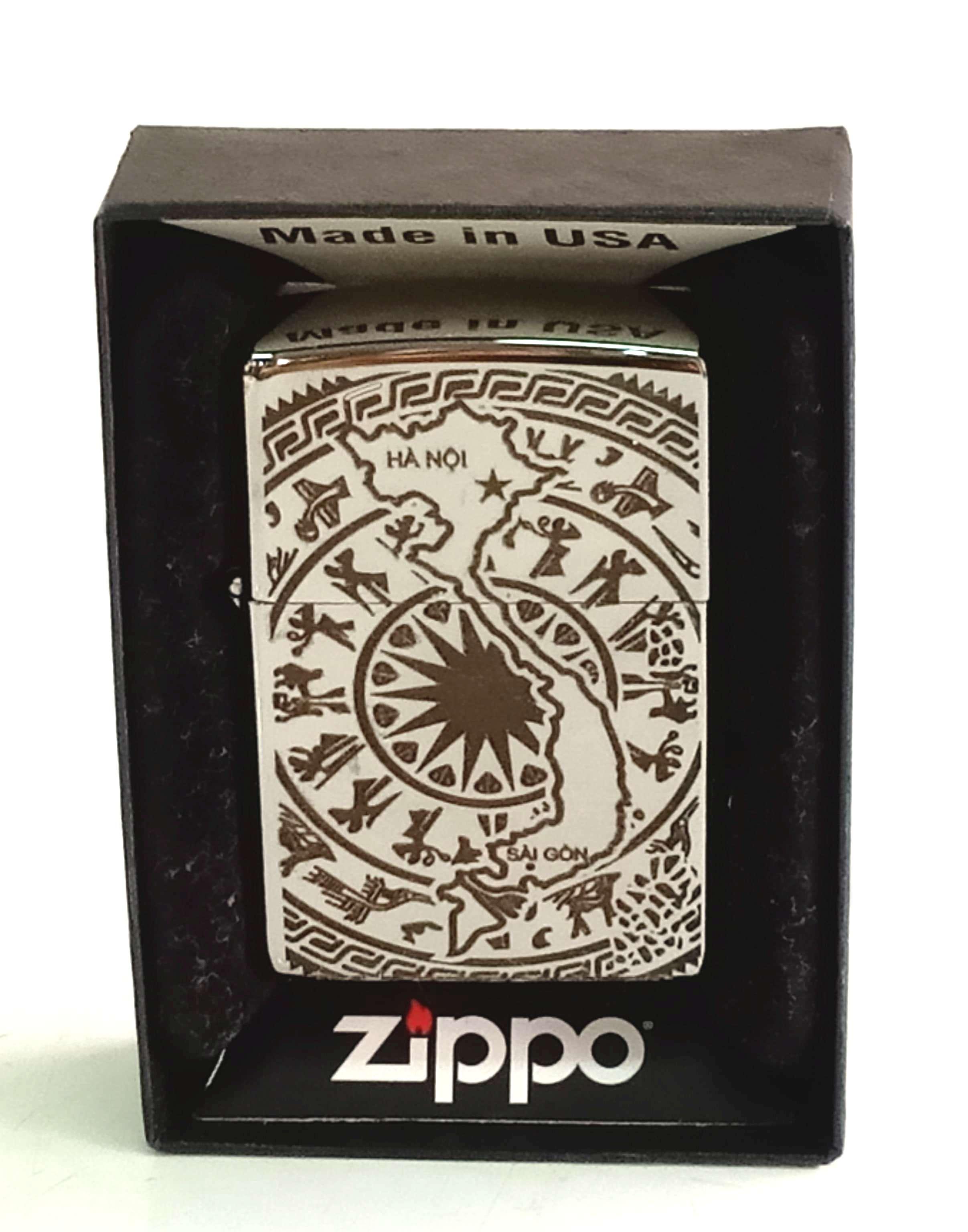 Zippo bong trang khac den ban do VN Z813