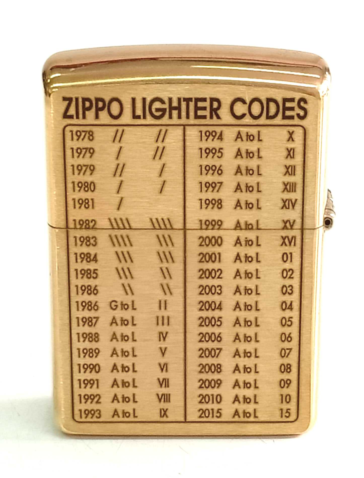 Zippo vang khac 2 mat moc day zippo Z823 2