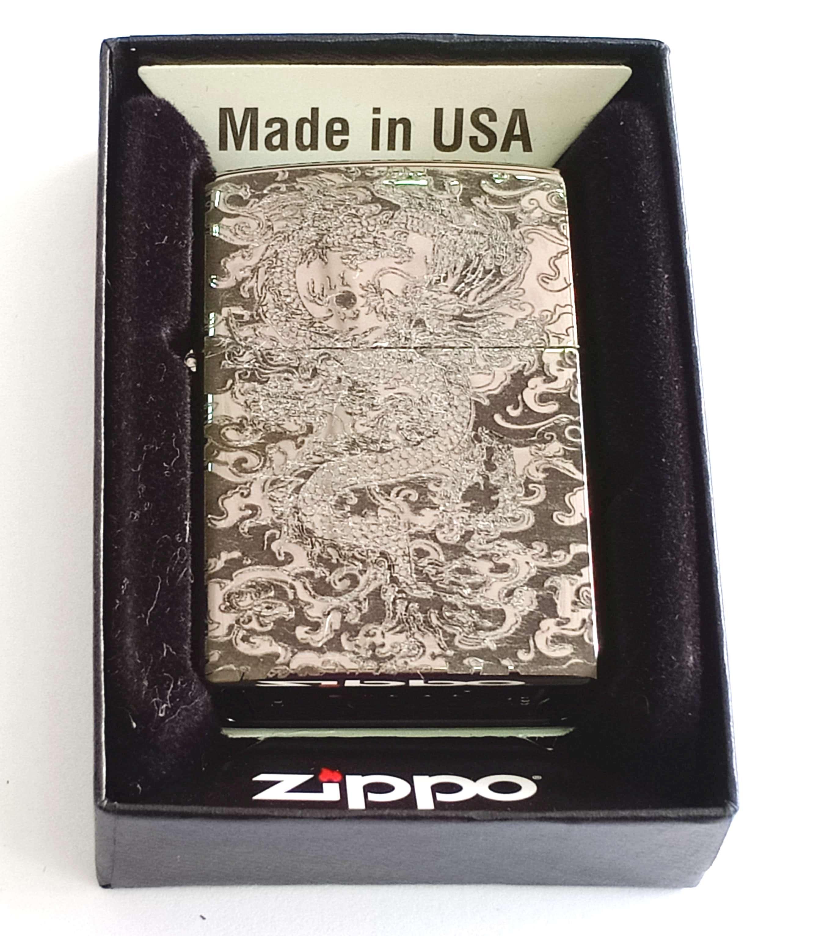 Zippo bong trang khac den hinh rong Z838