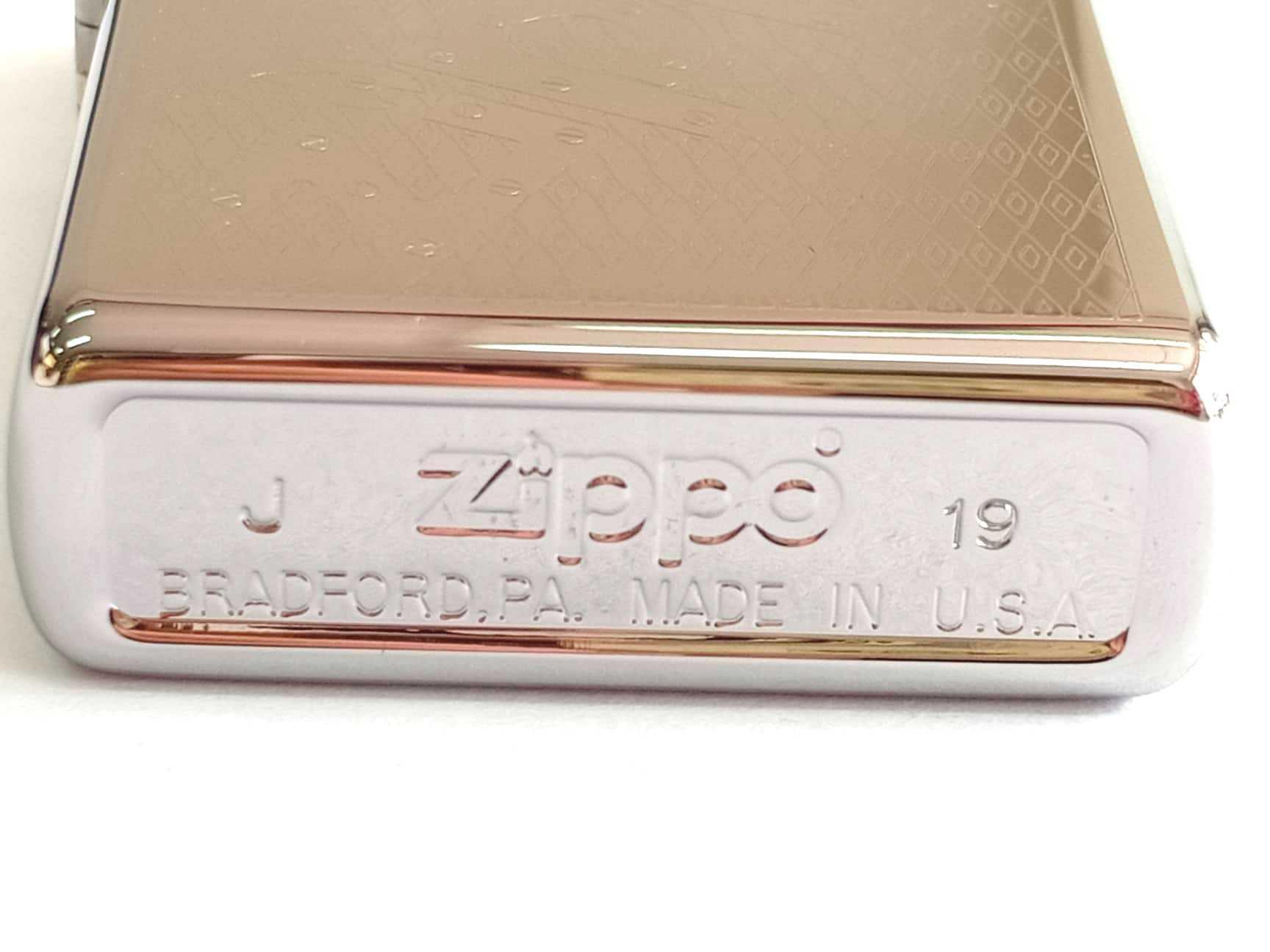 Zippo bong trang khac 1 mat chu Zippo Z845 3