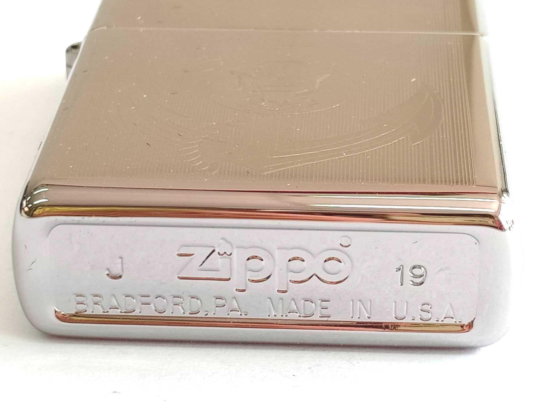 Zippo bong trang khac 1 mat mui neo Navy Z847 3