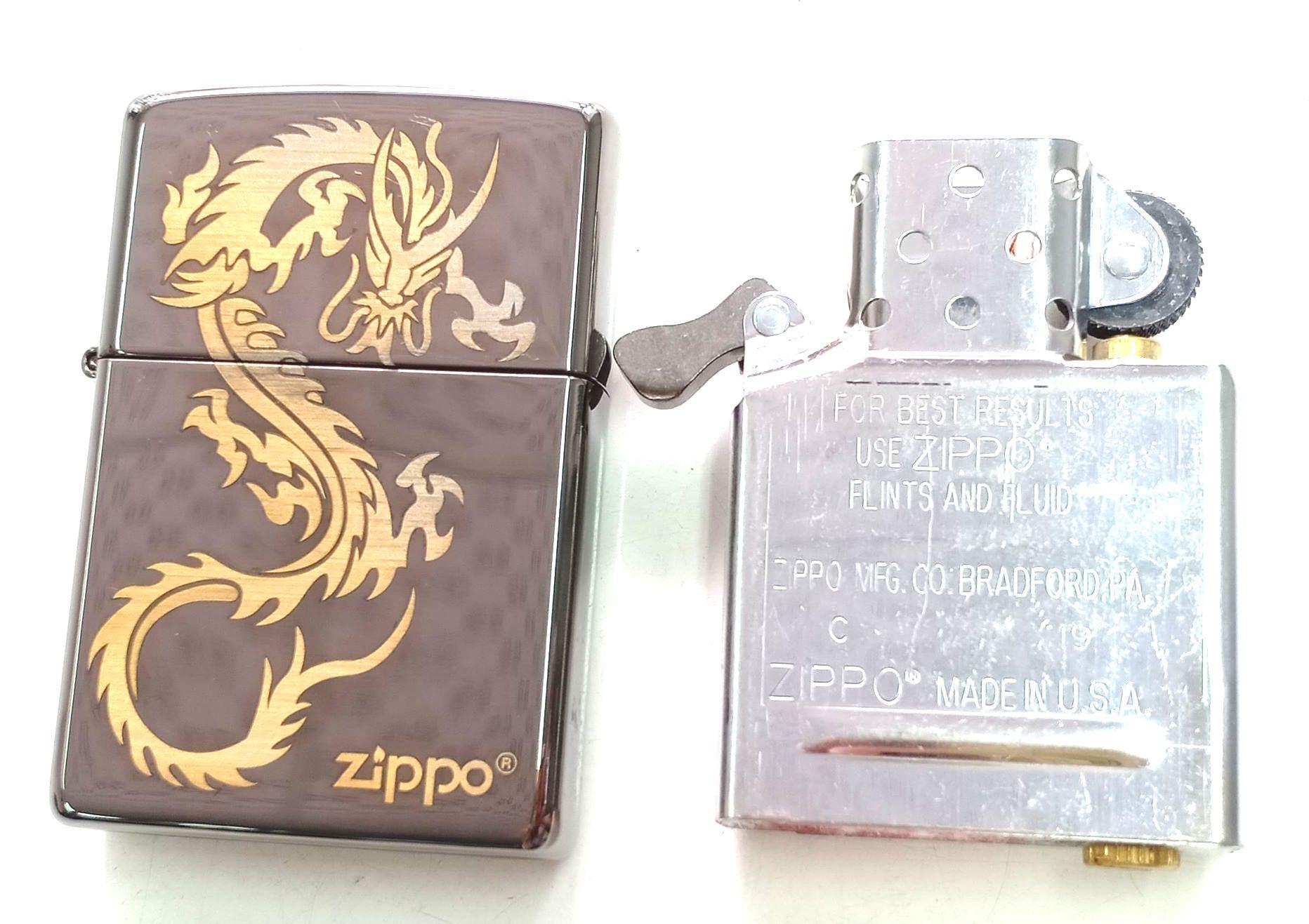 Zippo black ice khac laser hinh rong Z663 4