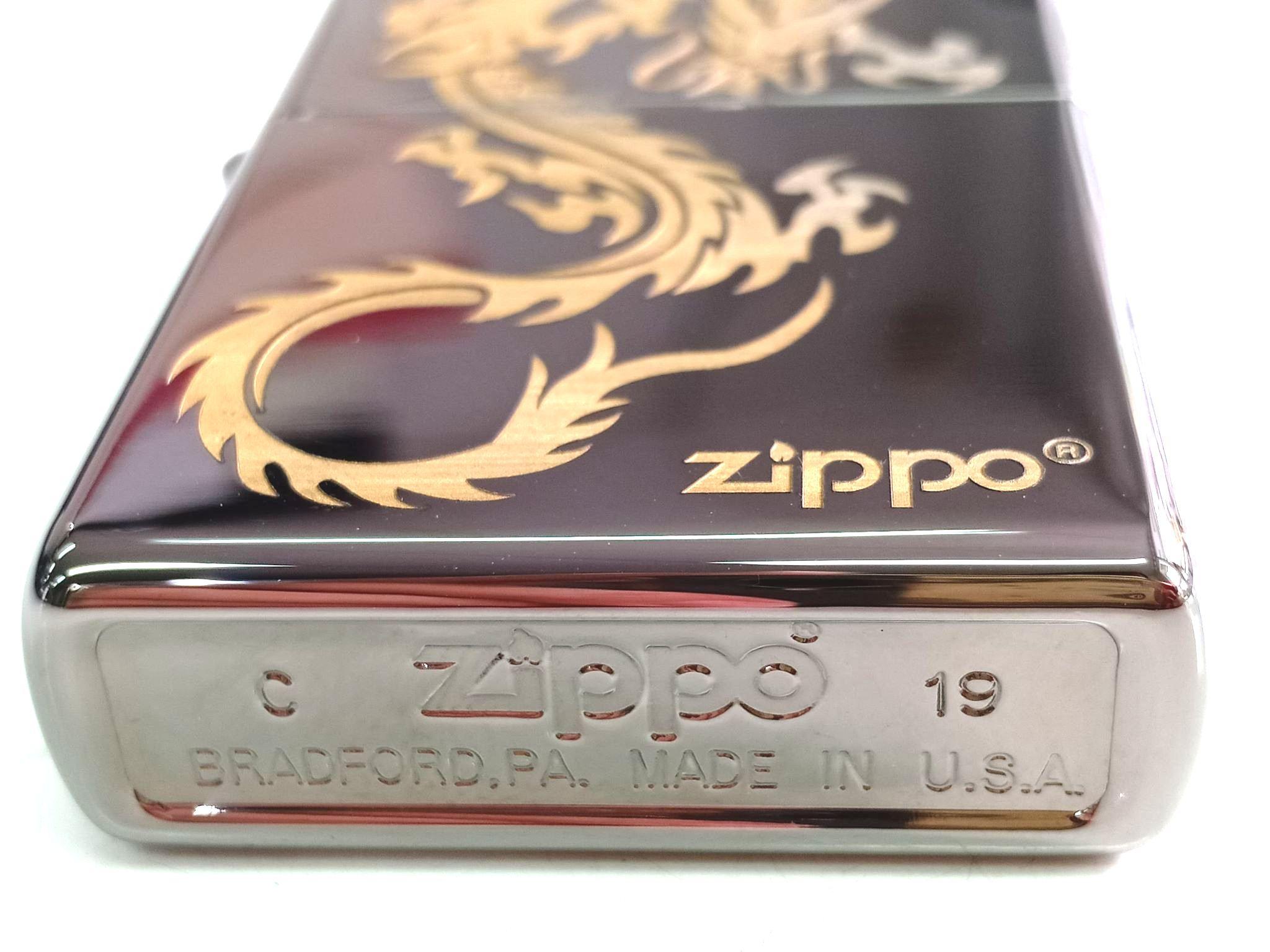 Zippo black ice khac laser hinh rong Z663 3
