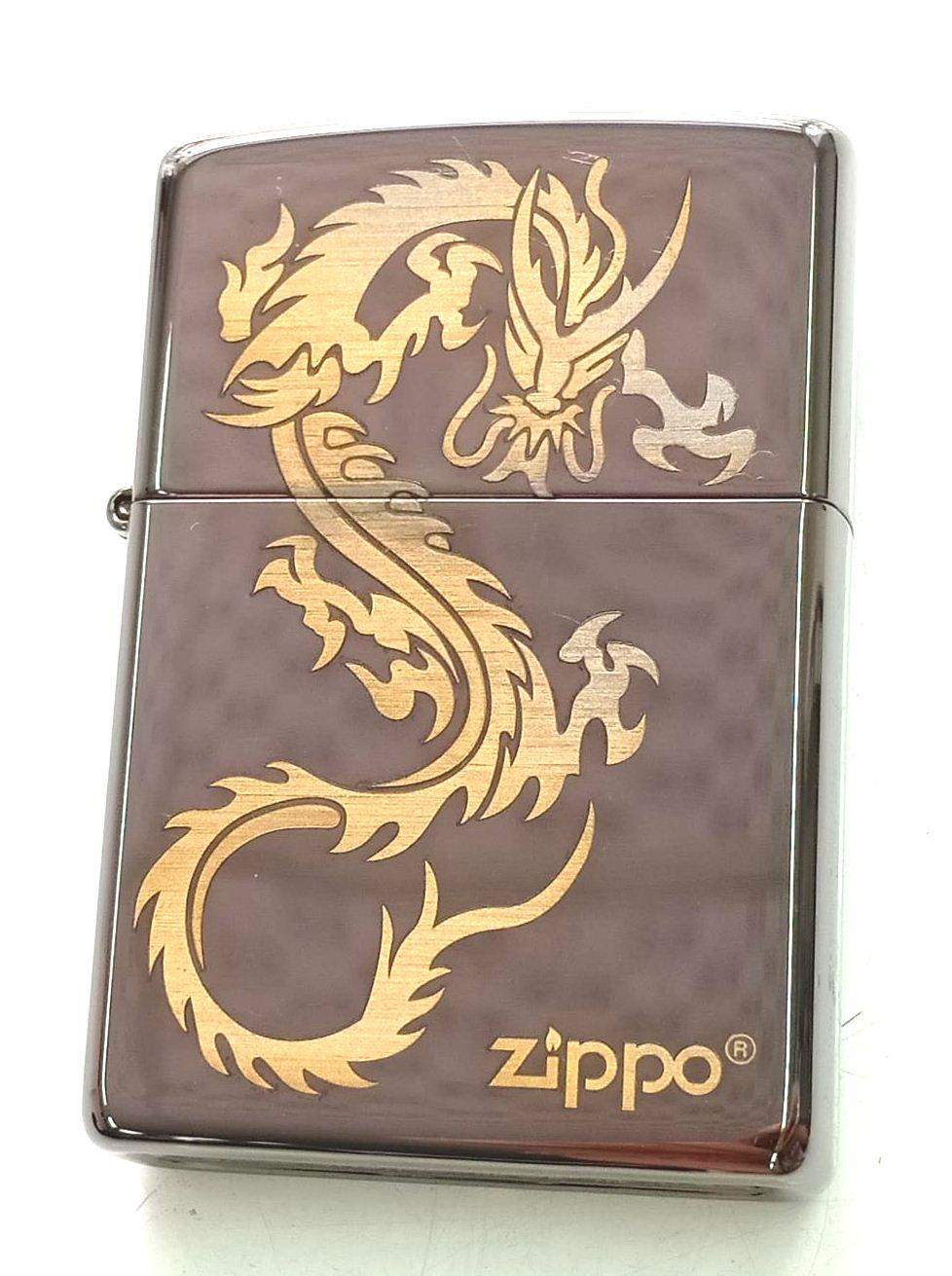 Zippo black ice khac laser hinh rong Z663 1