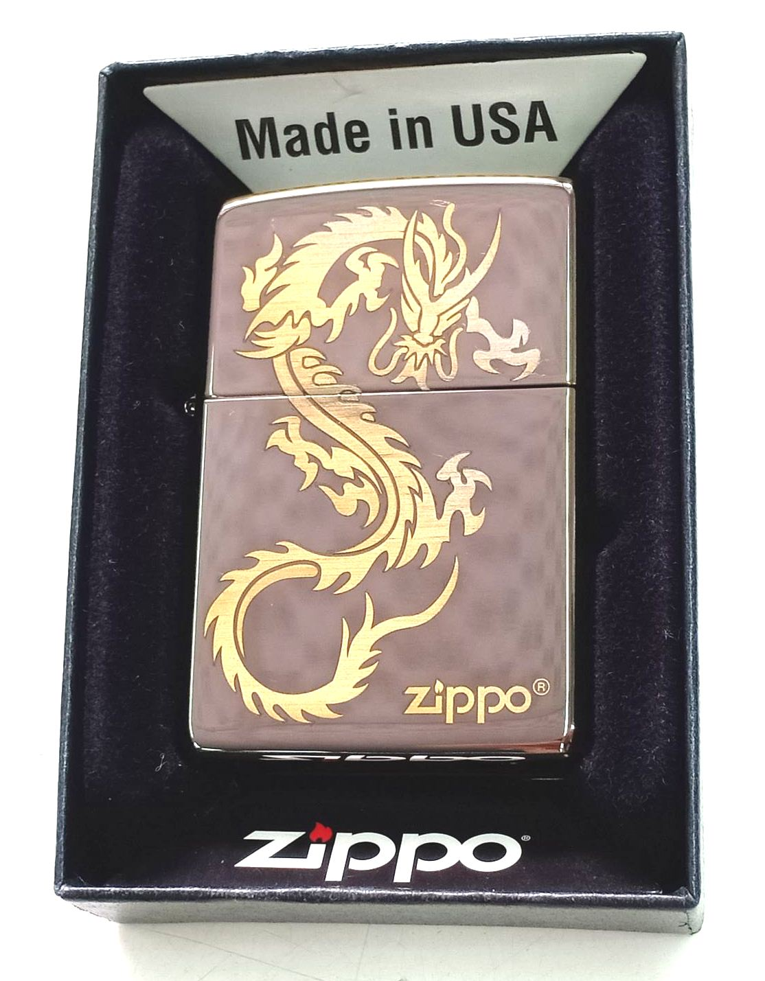 Zippo black ice khac laser hinh rong Z663