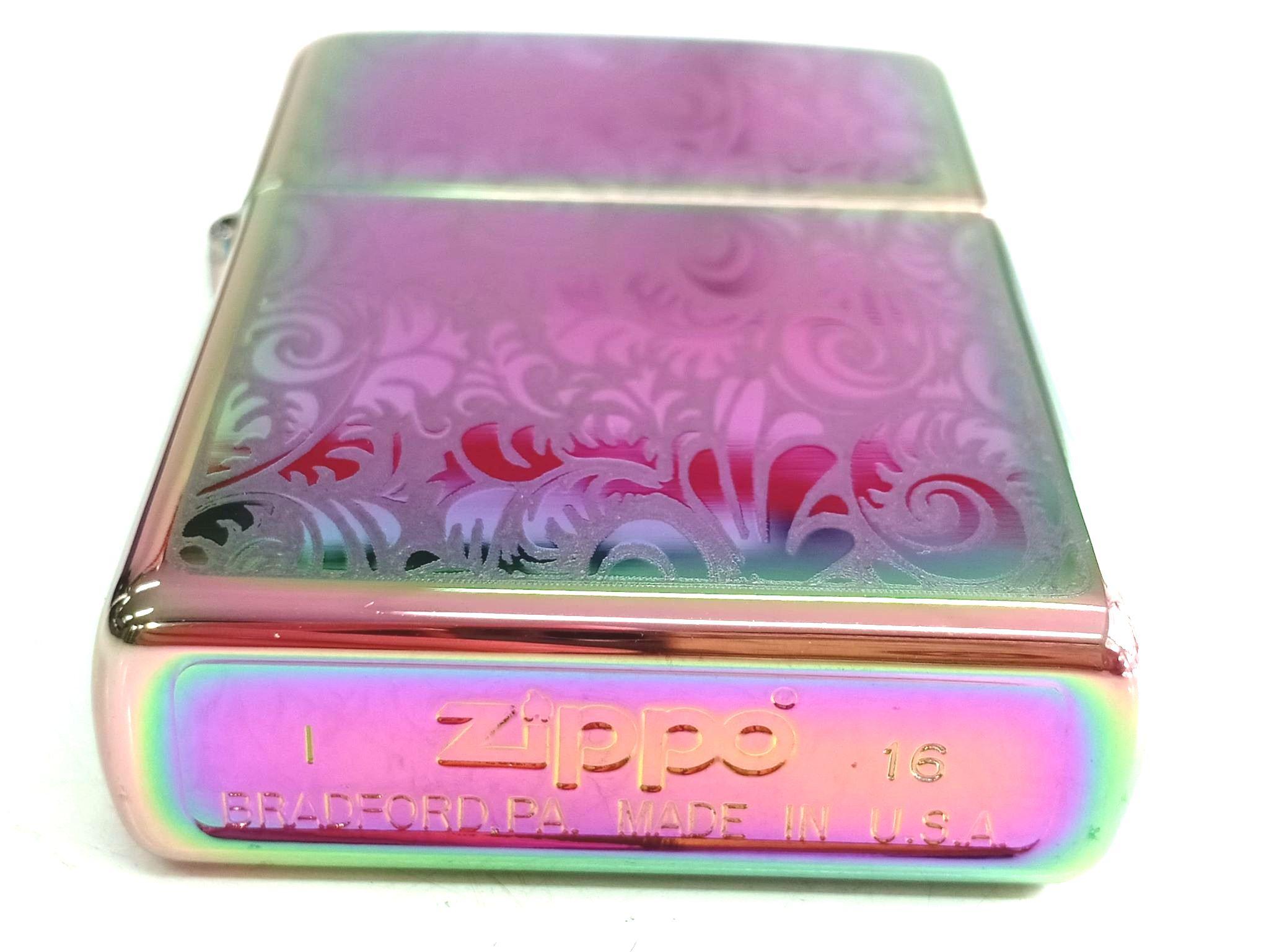 Zippo 7 mau cham hoa van Z665 3