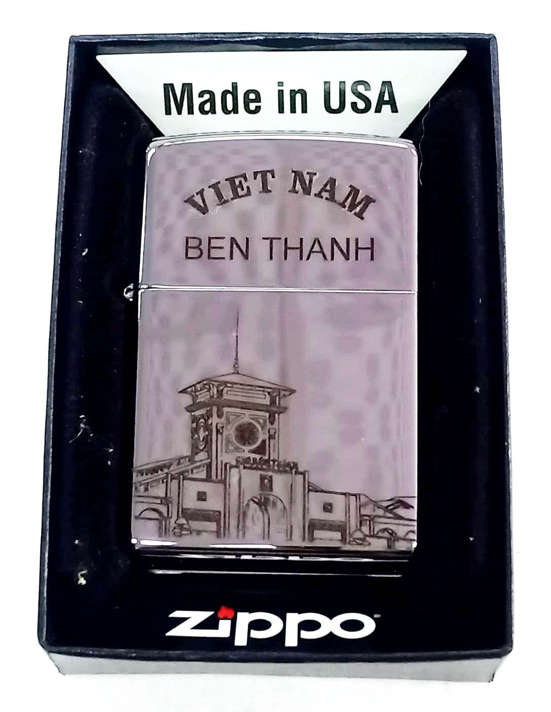 Zippo bong trang khac den cho ben thanh Z671