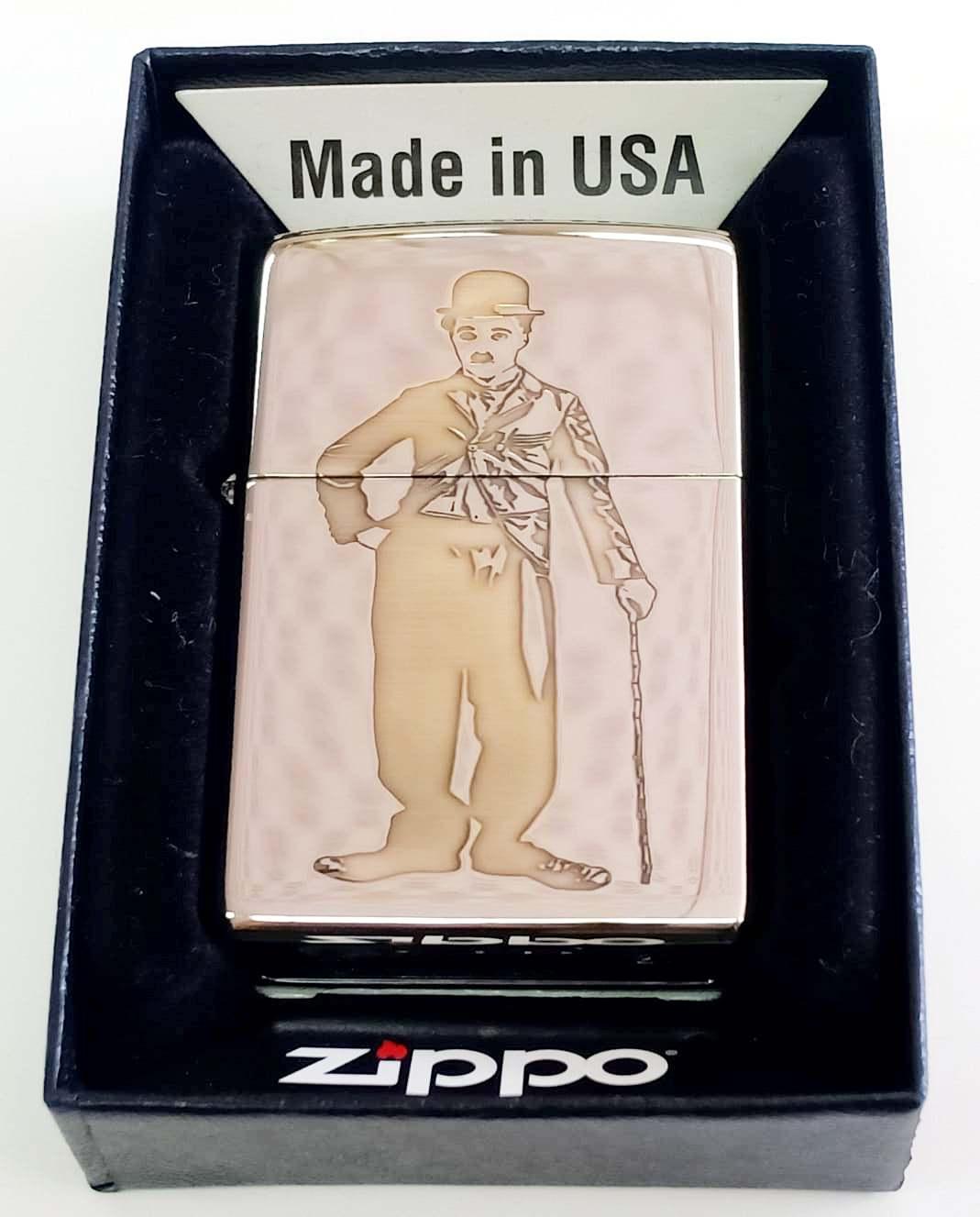 Zippo bong trang khac loi thau 1 mat Z674