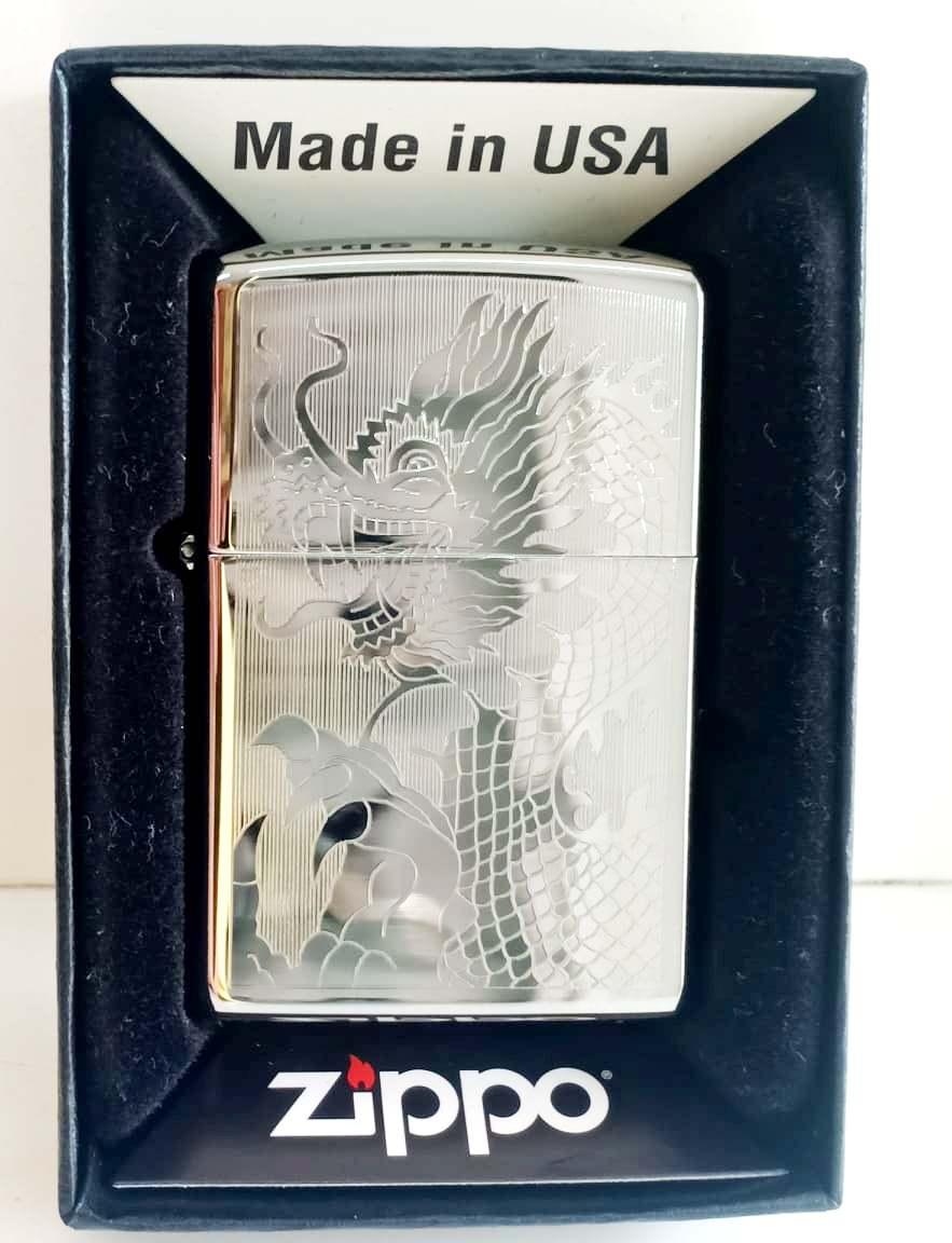 Zippo bong trang khac 1 mat hinh rong Z701