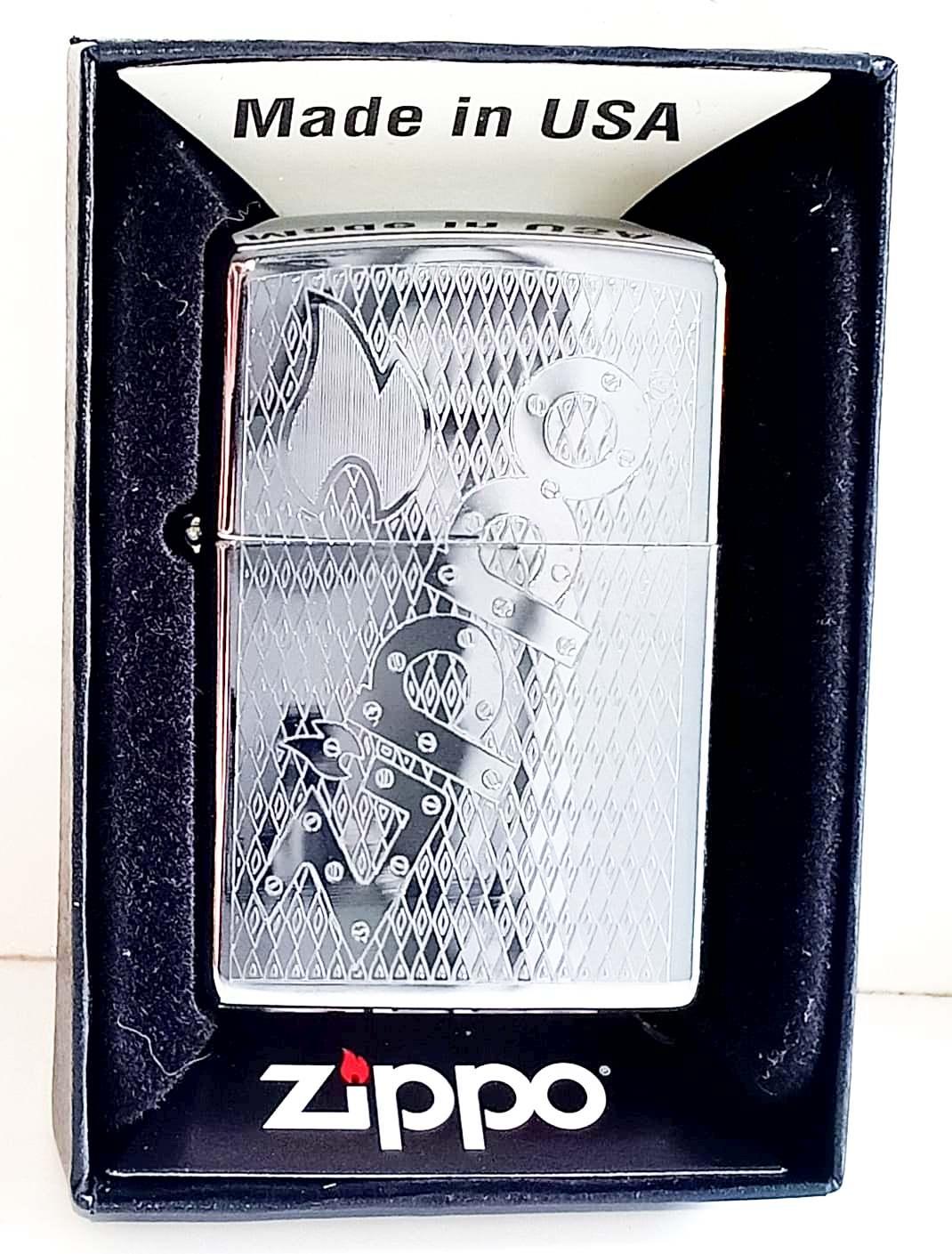 Zippo bong trang khac 1 mat chu Zippo Z707