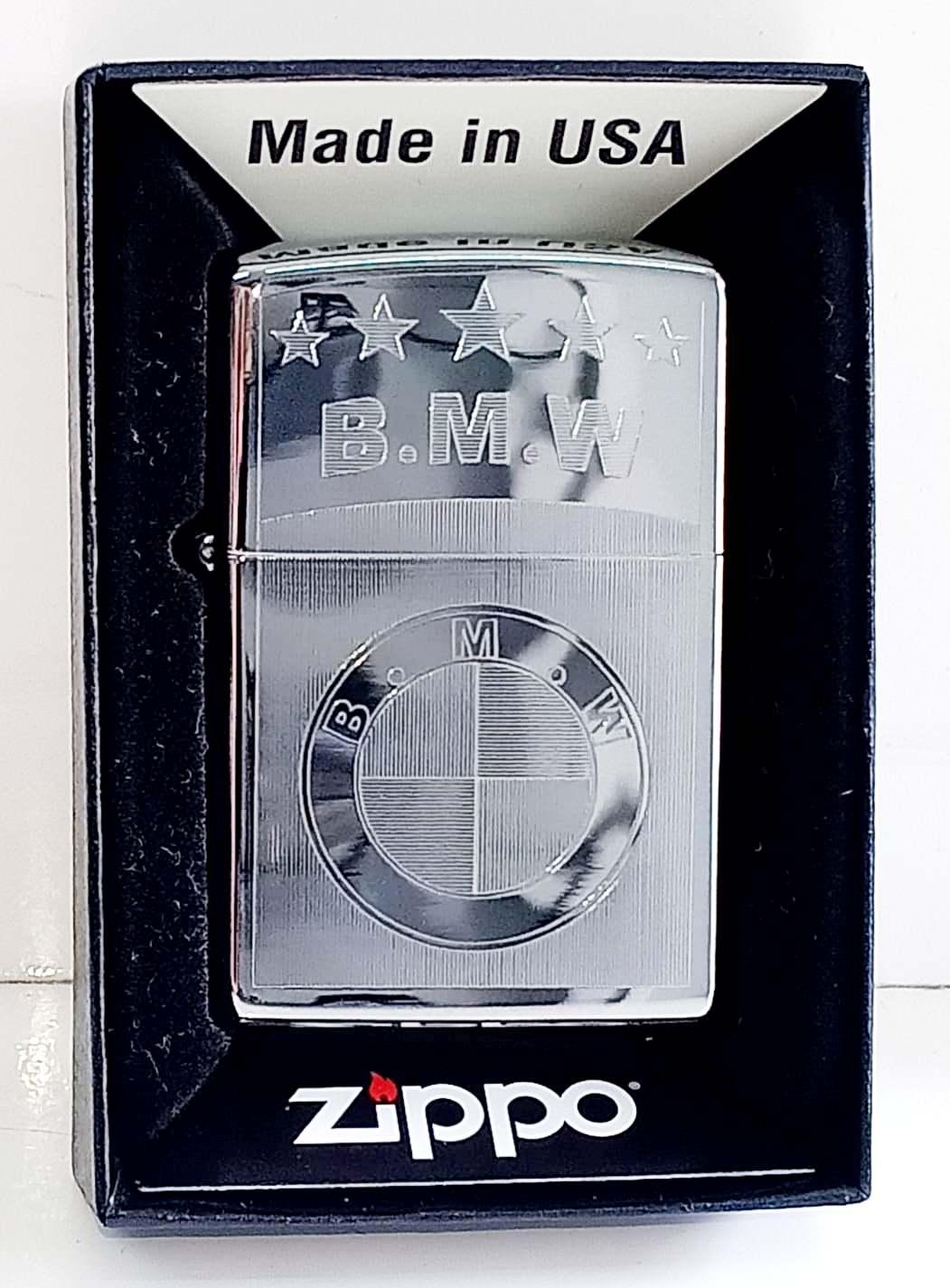 Zippo bong trang khac 1 mat B.M.W Z708