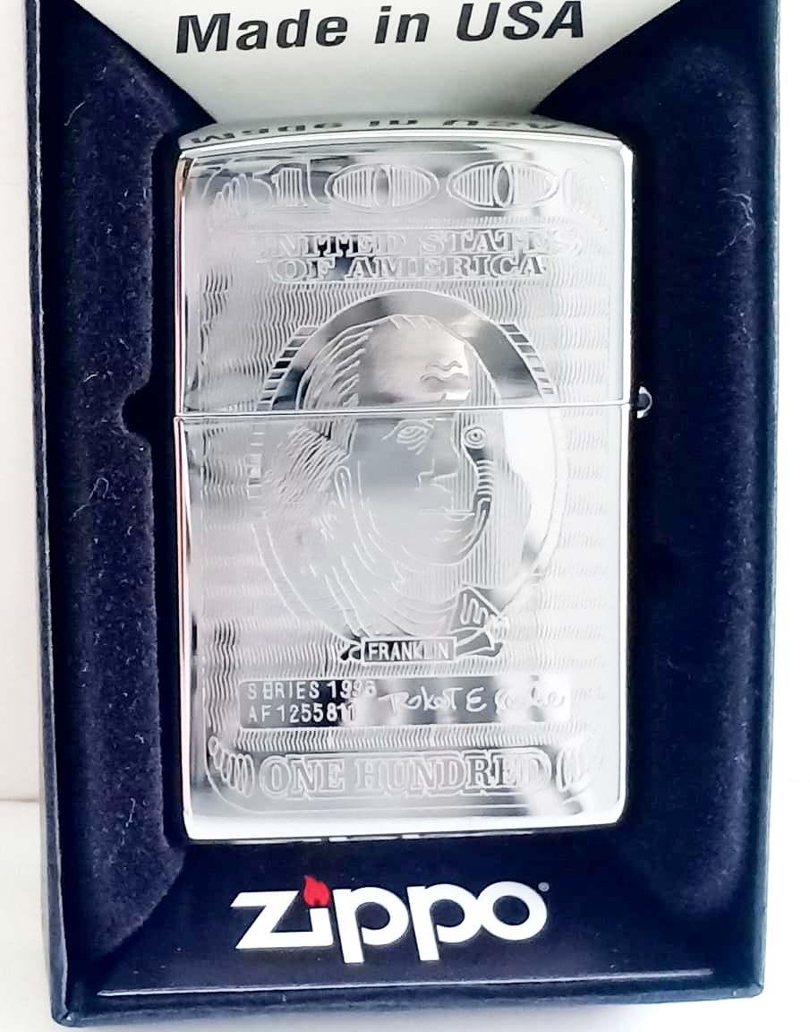 Zippo bong trang khac 2 mat Z711