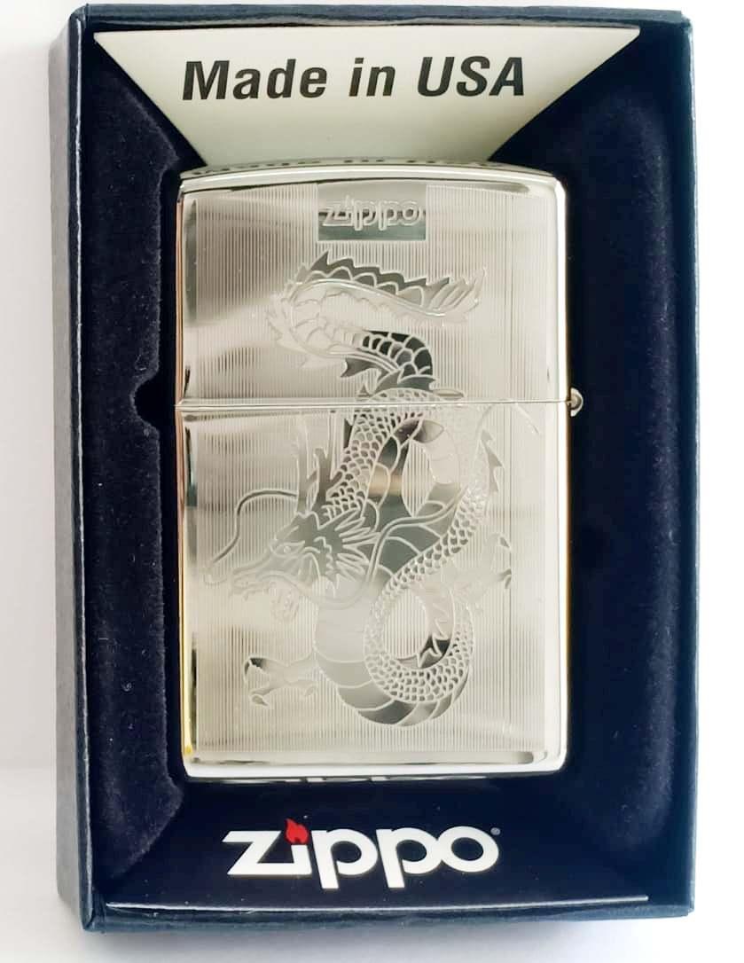 Zippo bong trang khac 2 mat hinh rong Z718